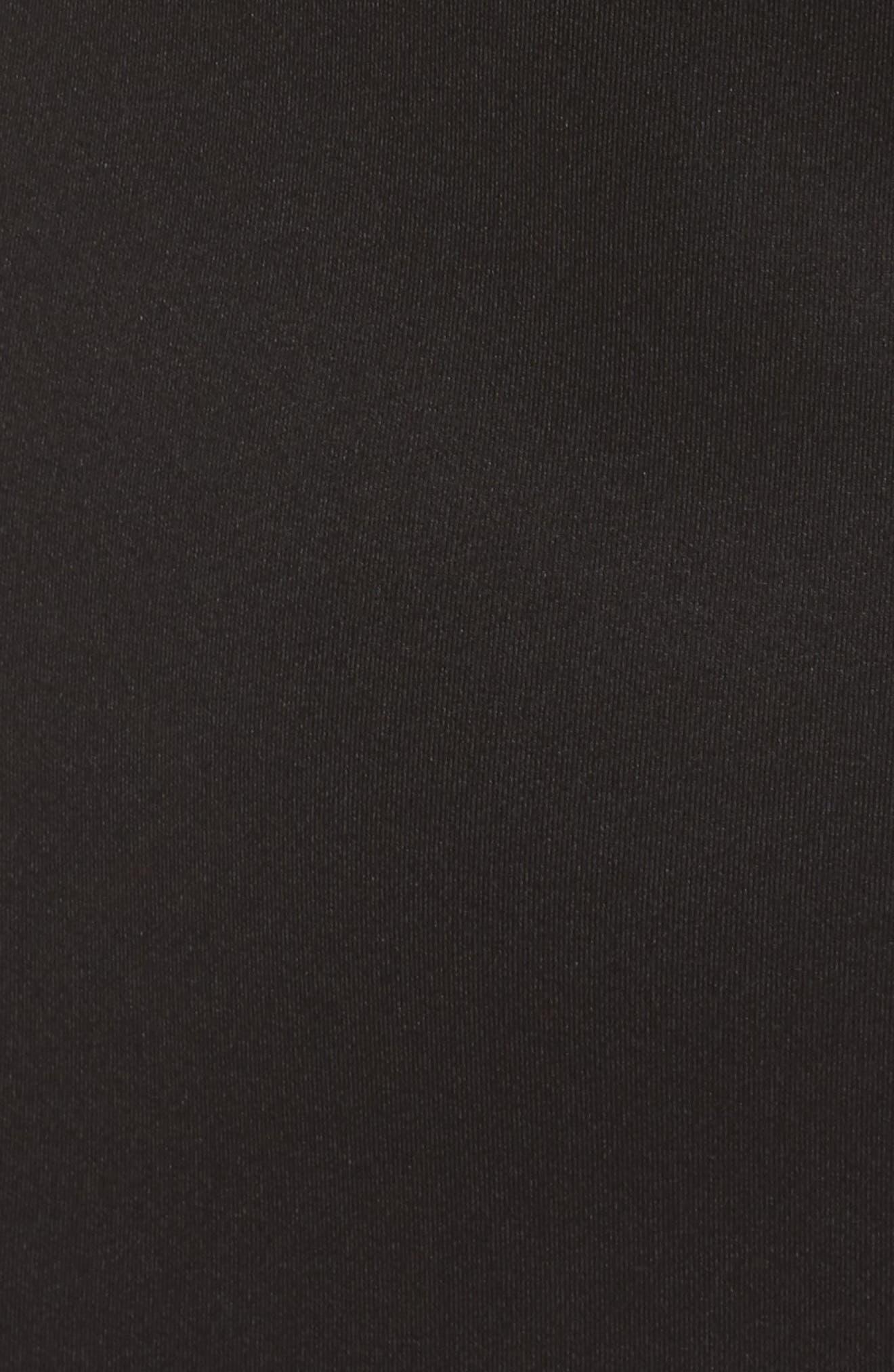 One-Shoulder Asymmetric Dress,                             Alternate thumbnail 5, color,                             Black
