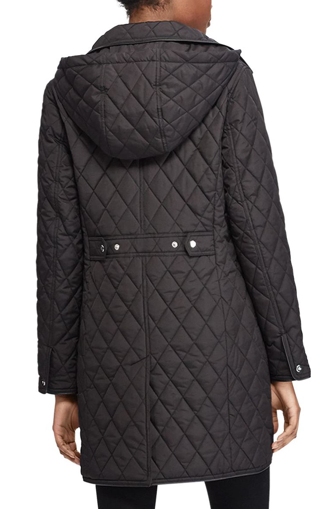 Quilted Hooded Jacket,                             Alternate thumbnail 2, color,                             Black