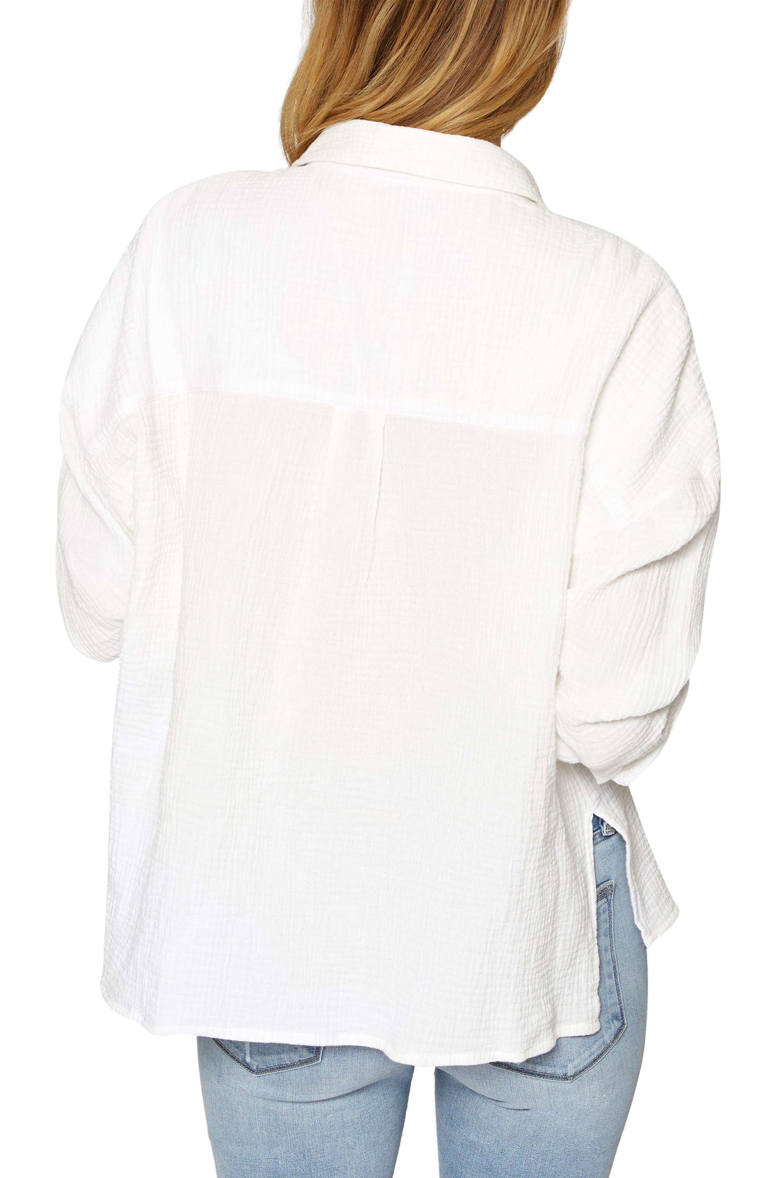 Mod Boyfriend Shirt,                             Alternate thumbnail 2, color,                             White