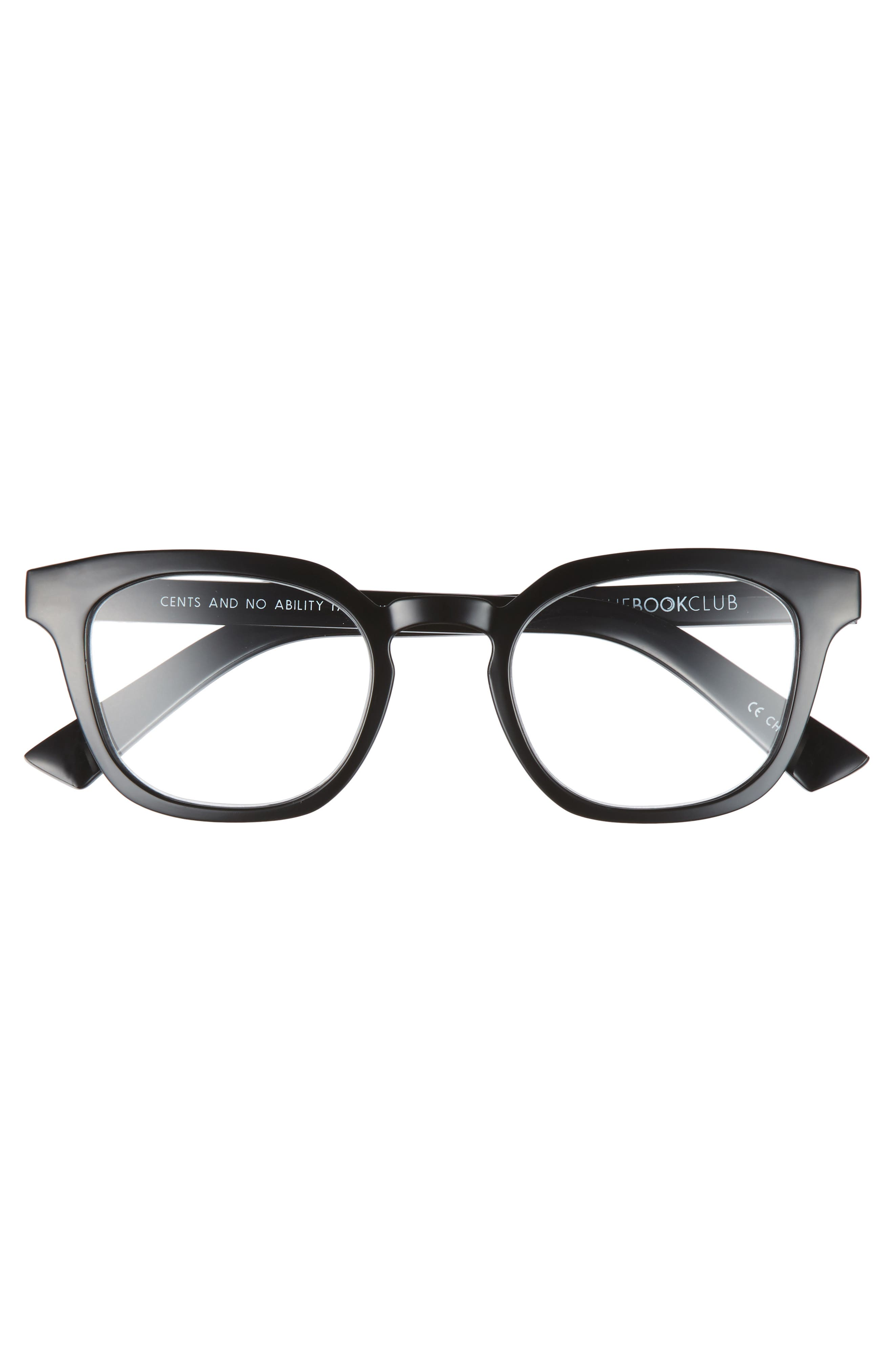 Cents and No Ability 48mm Reading Glasses,                             Alternate thumbnail 3, color,                             Black Marker