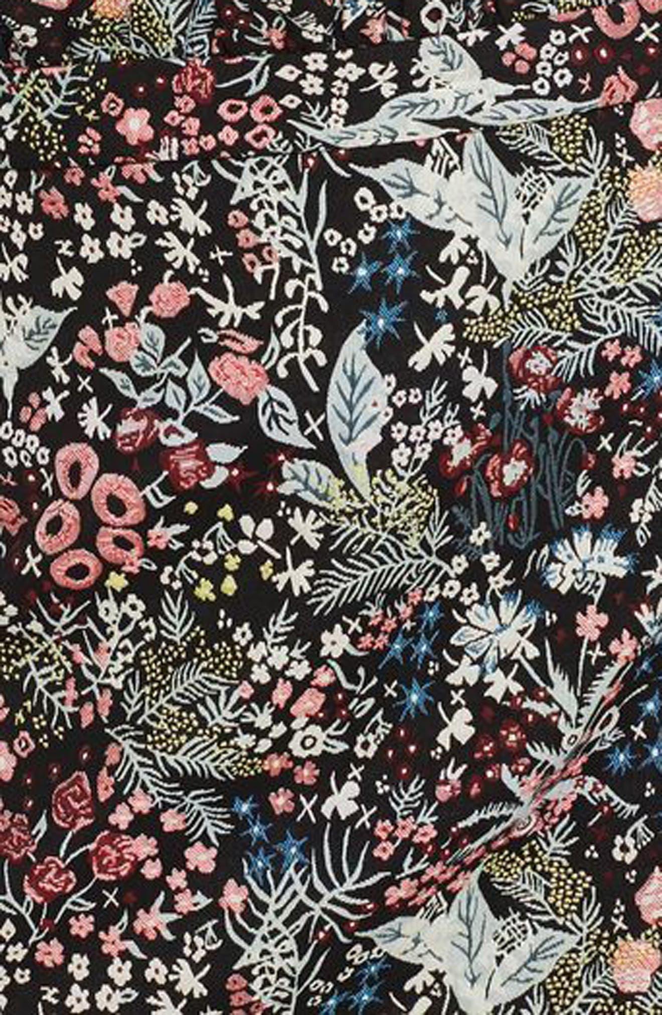 Woodland Jacquard Skirt,                             Alternate thumbnail 3, color,                             Black Multi