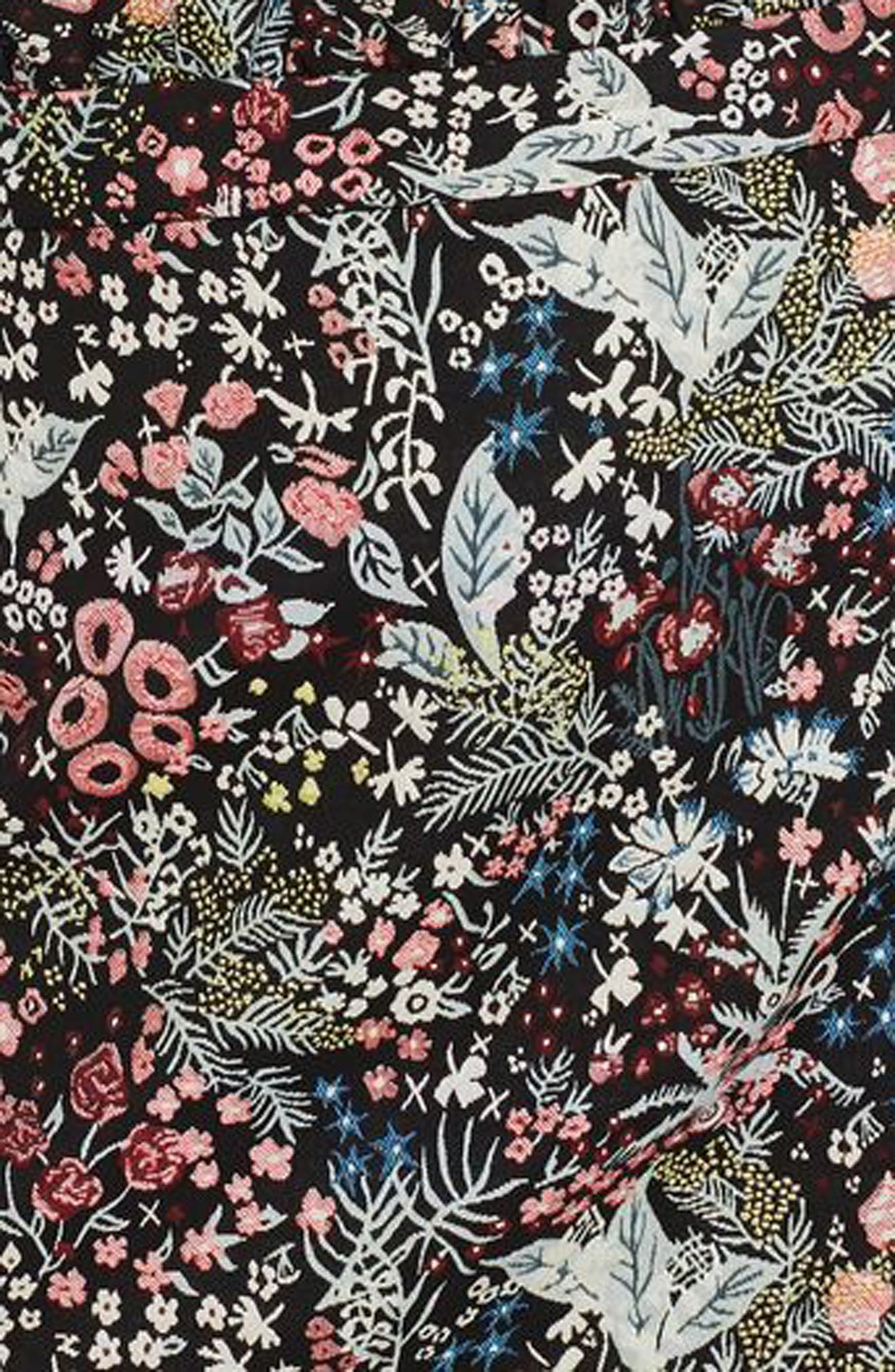 Alternate Image 3  - Topshop Woodland Jacquard Skirt