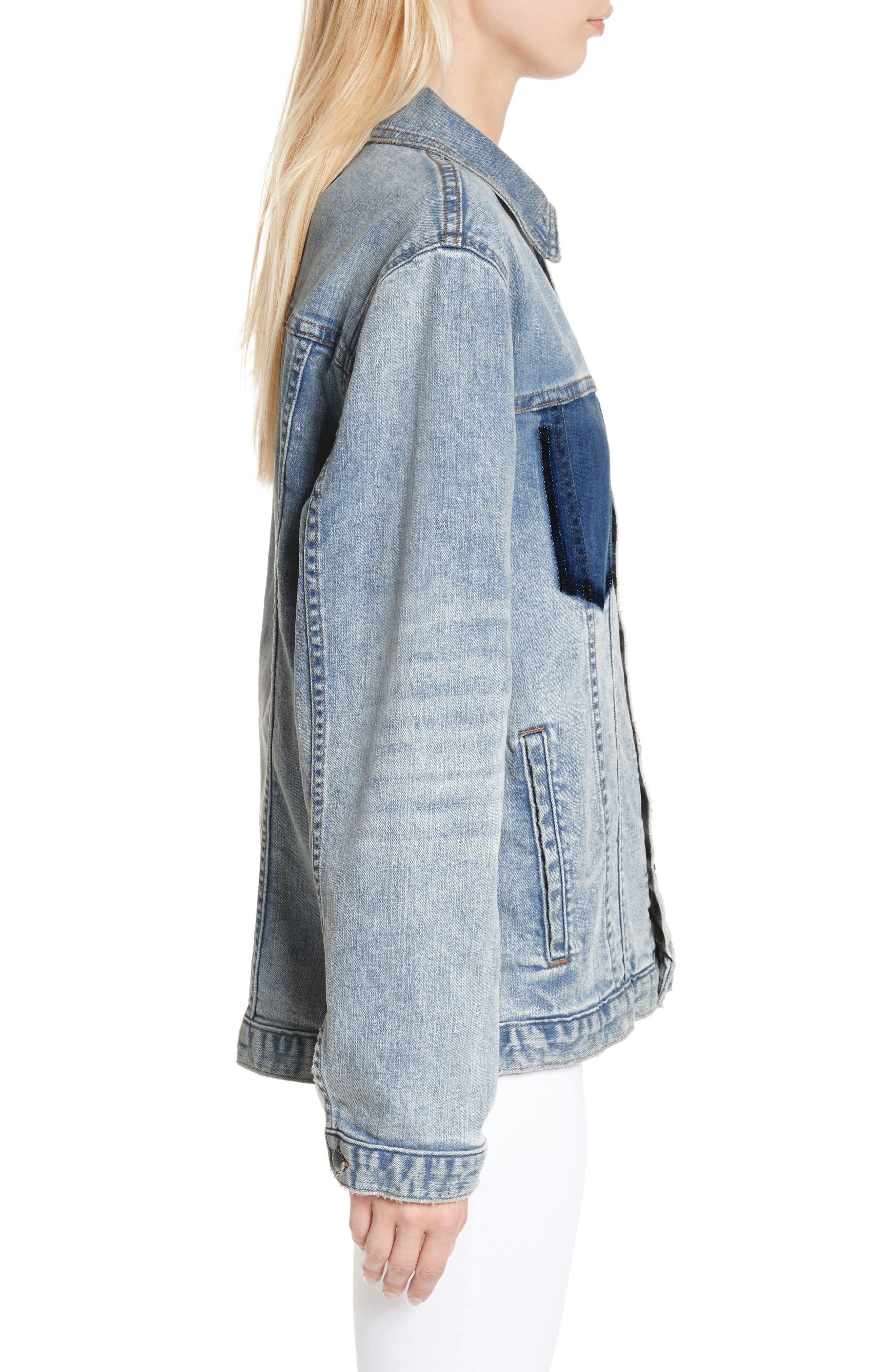 Alternate Image 3  - L'AGENCE Karina Shadow Pocket Denim Jacket
