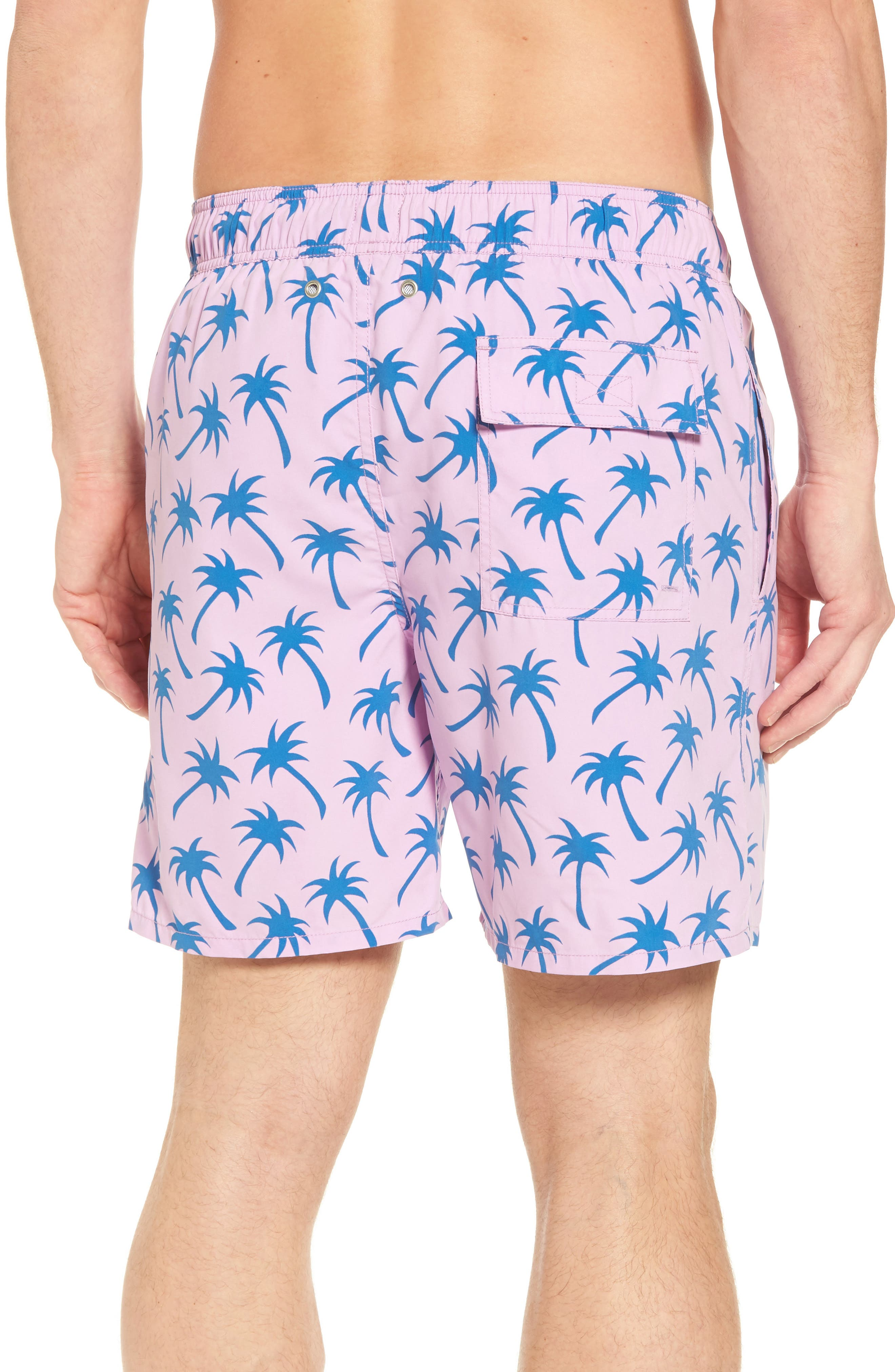 Alternate Image 2  - Tom & Teddy Palm Print Swim Trunks