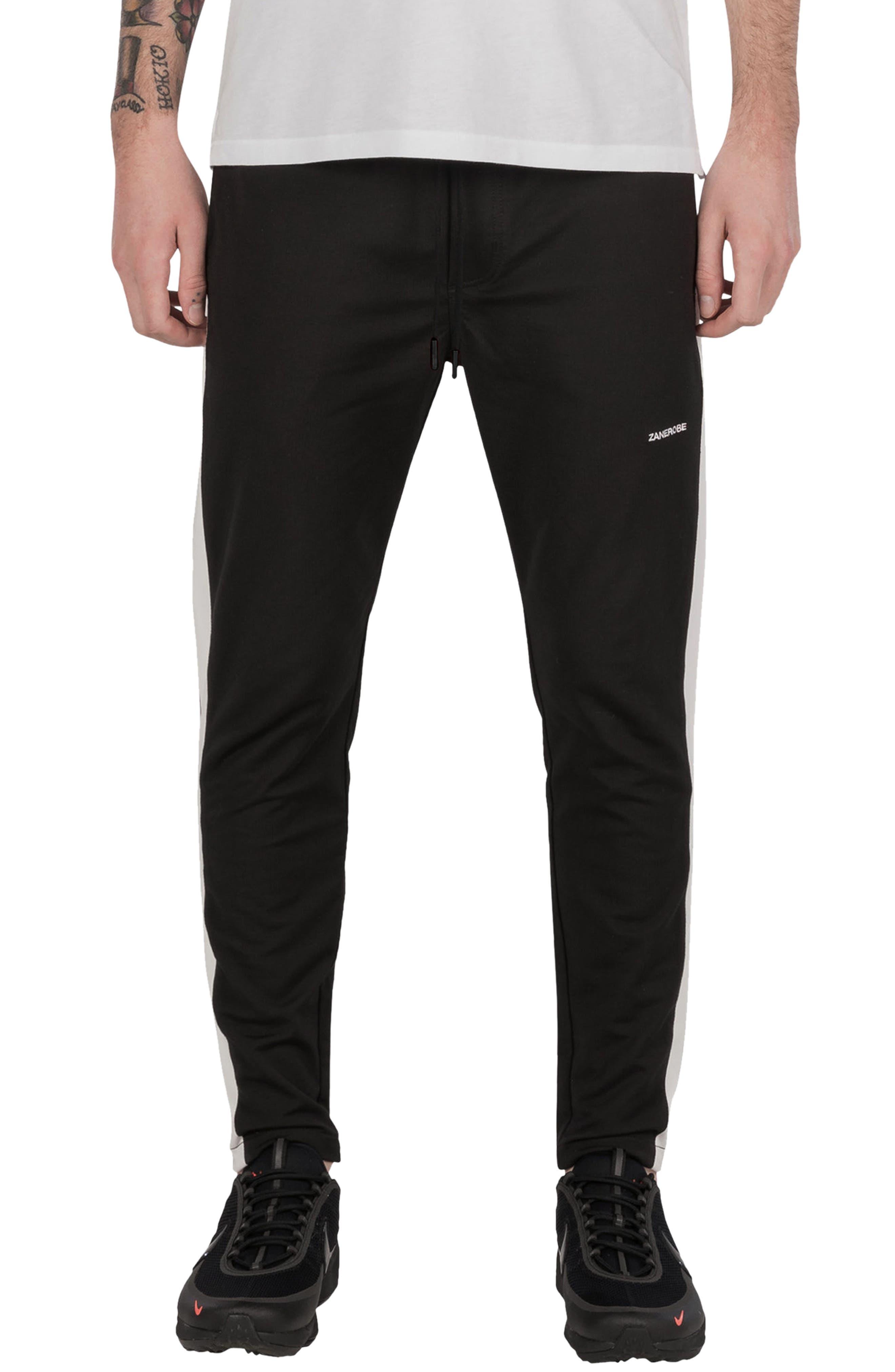 Jumpshot Slim Track Pants,                         Main,                         color, Black/ White