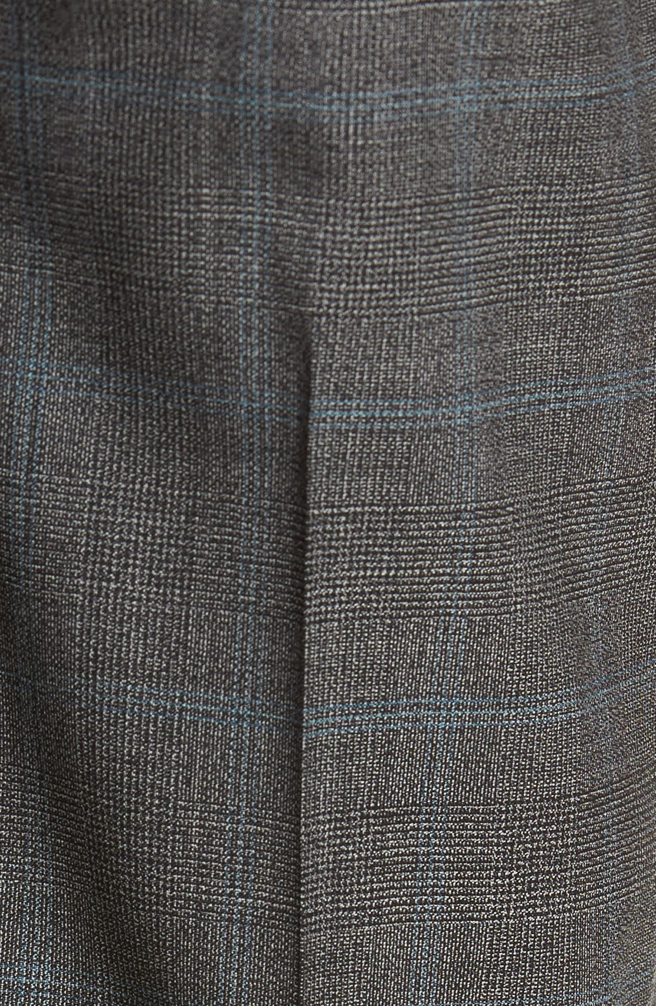 Genesis Flat Front Plaid Wool Trousers,                             Alternate thumbnail 5, color,                             Open Grey