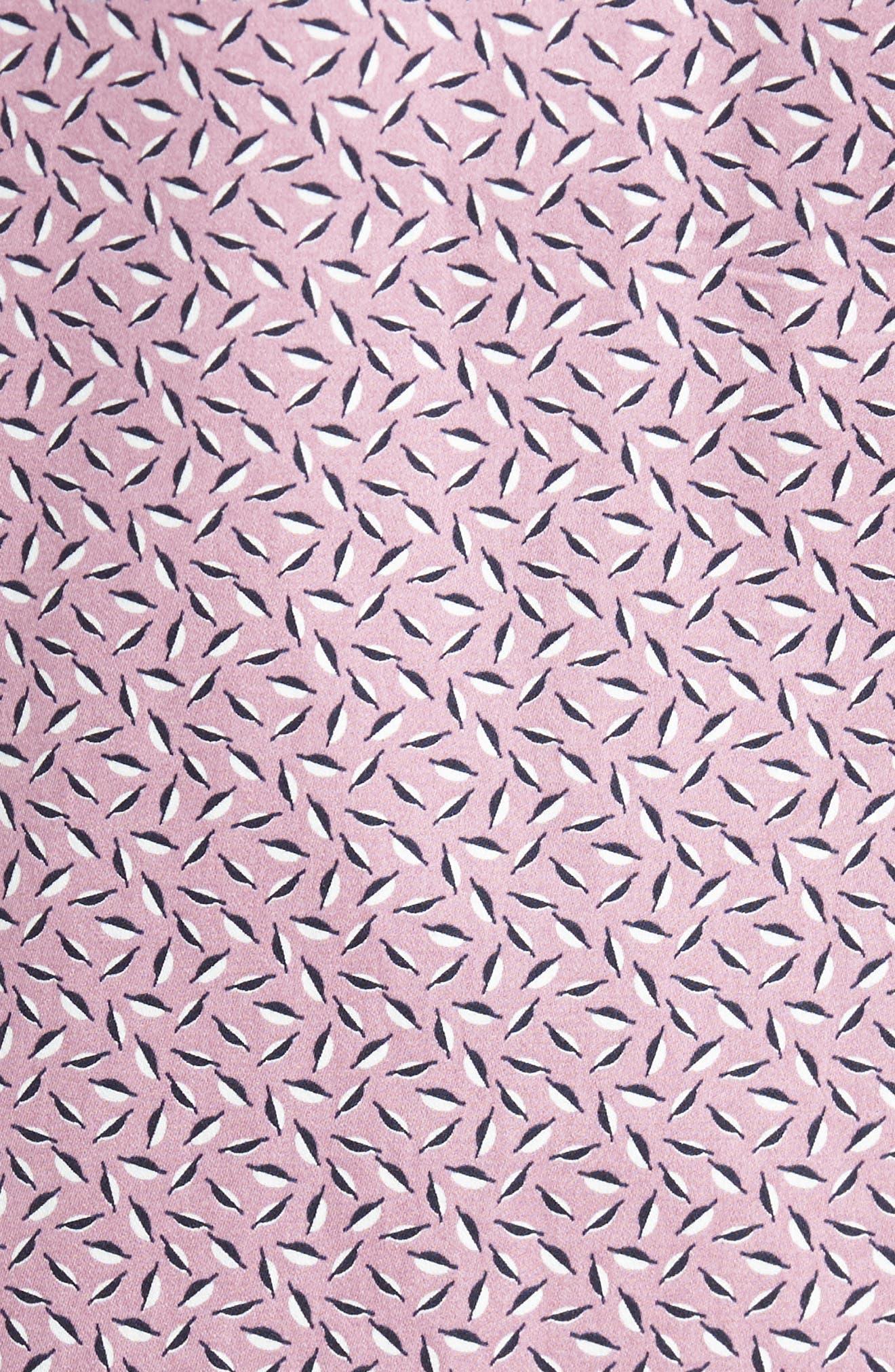Narnar Trim Fit Geo Print Camp Shirt,                             Alternate thumbnail 5, color,                             Light Pink