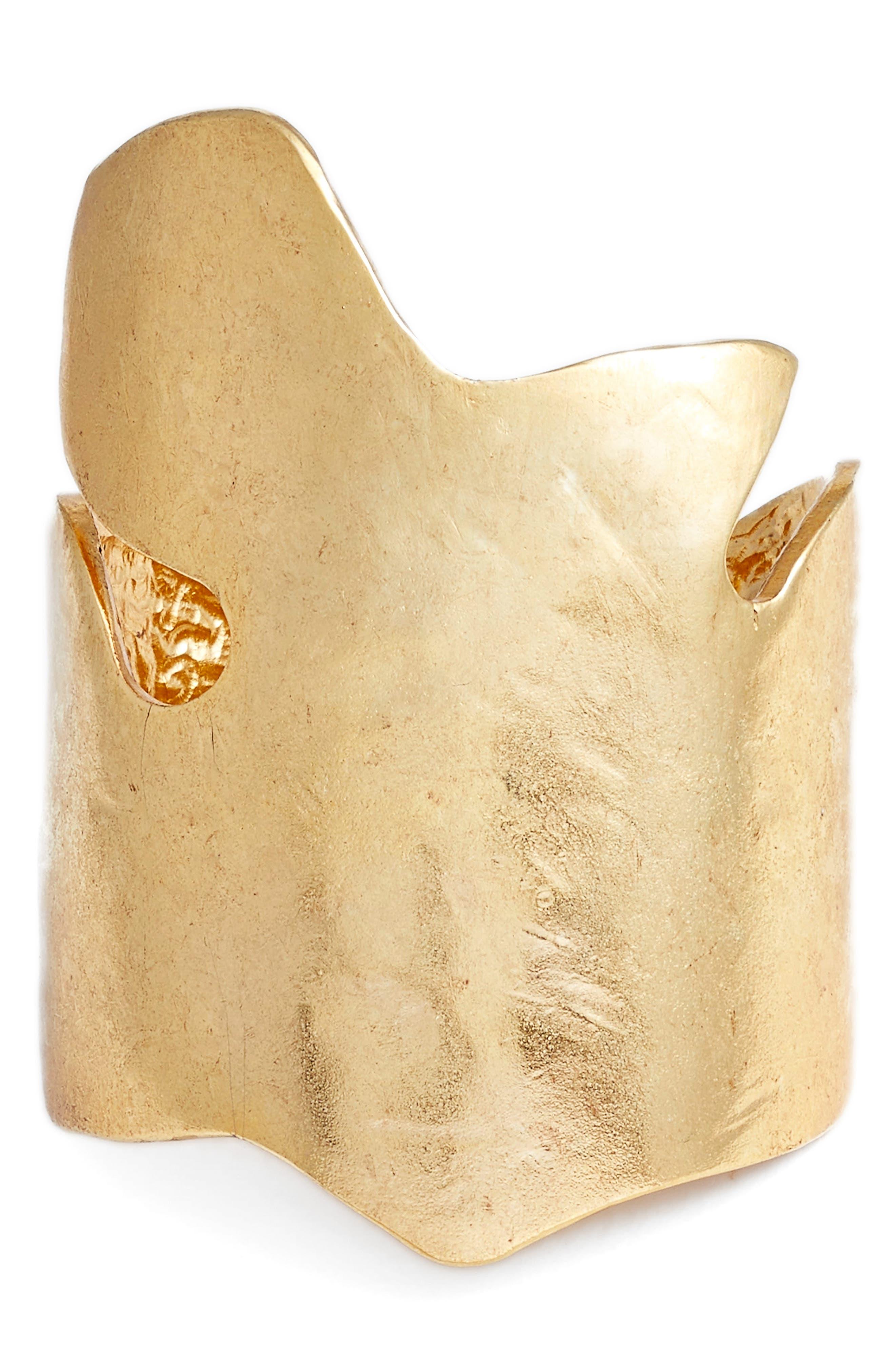 Foliage Cuff,                         Main,                         color, Gold