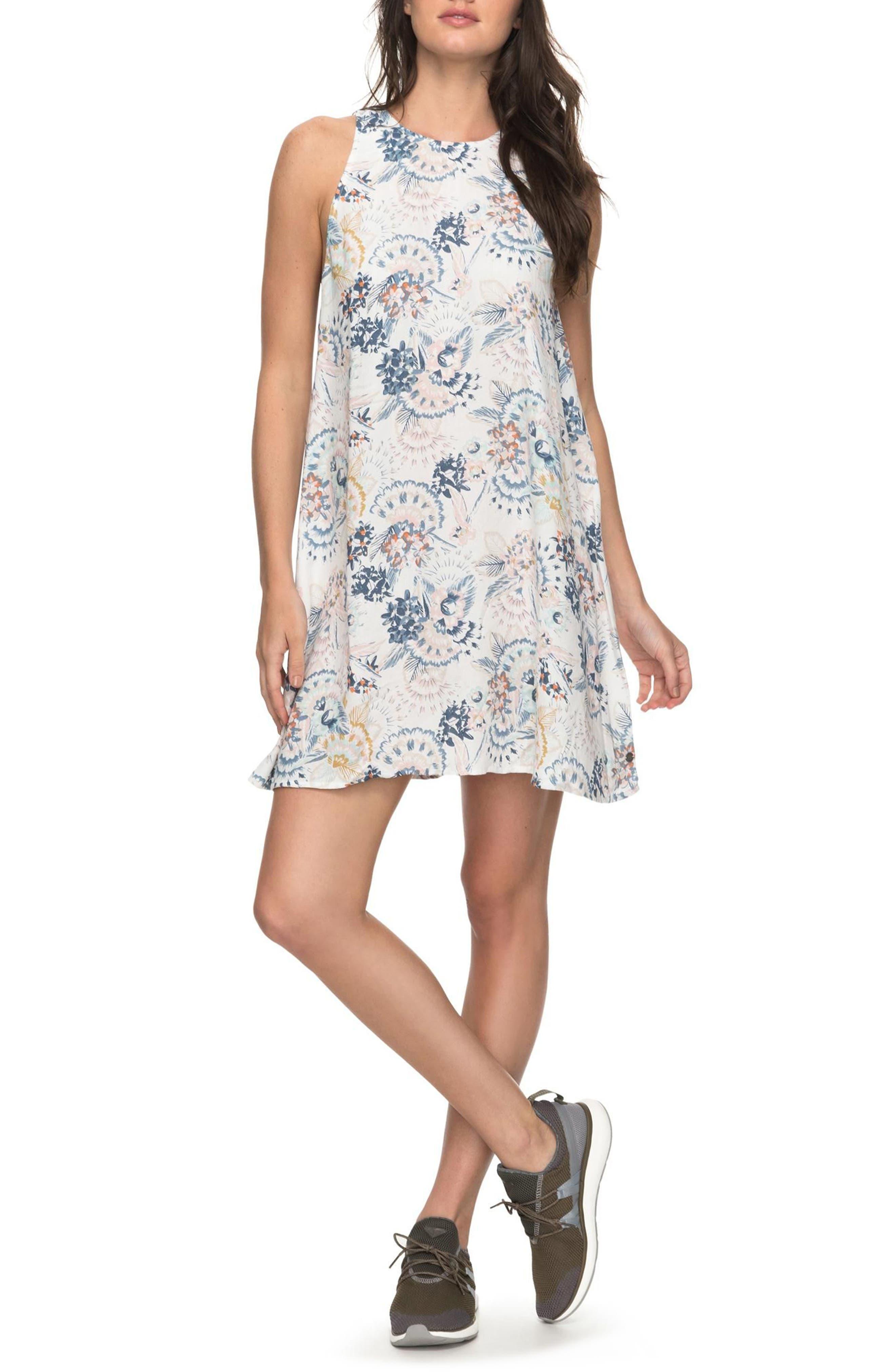 Sweet Seas Trapeze Dress,                         Main,                         color, Marshmallow Mahna Mahna
