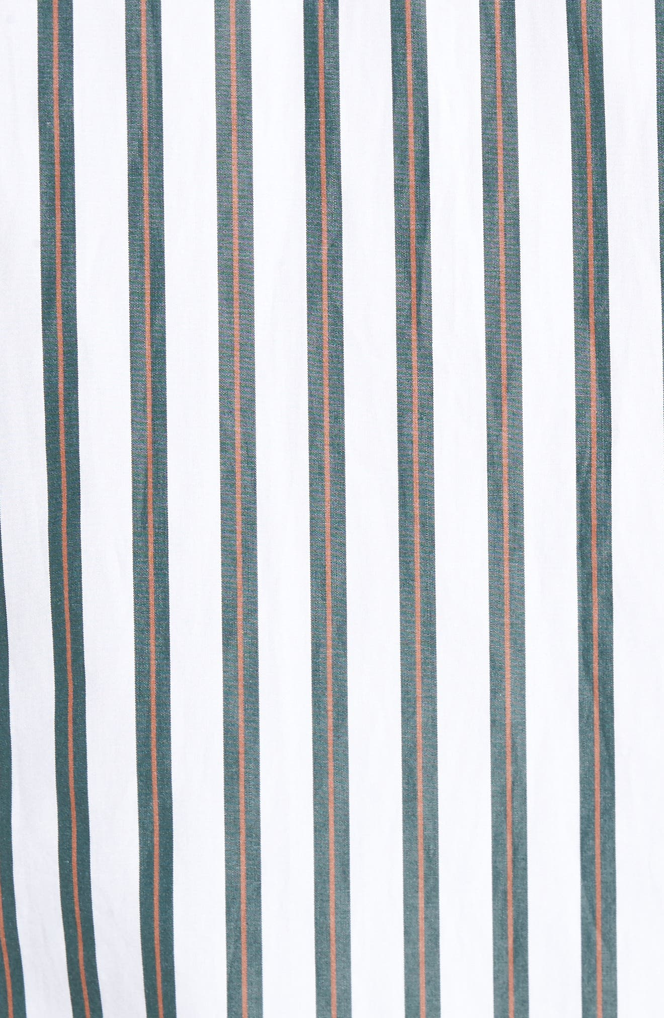 Stripe Sport Shirt,                             Alternate thumbnail 5, color,                             White/ Pine Grove