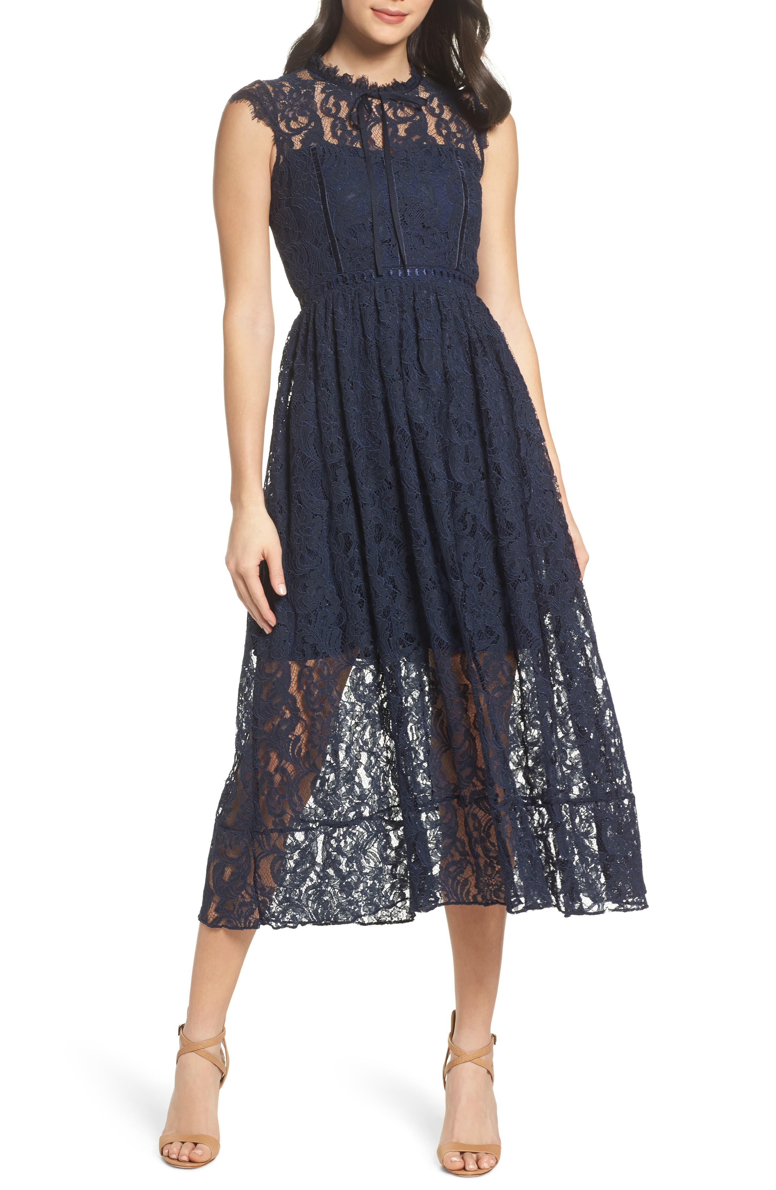 Chelsea28 Lace Midi Dress