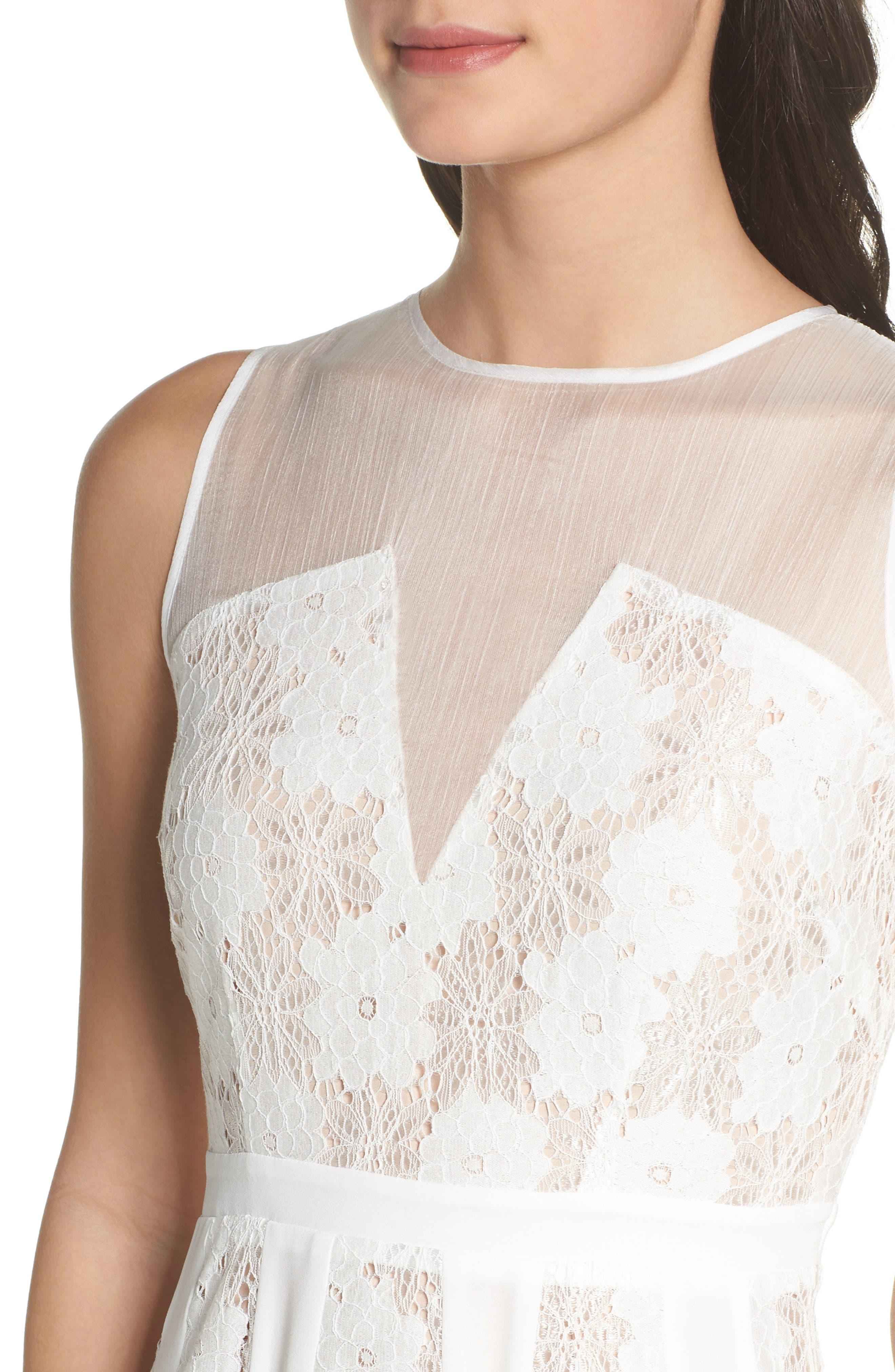 Alternate Image 4  - Chelsea28 Lace Midi Dress