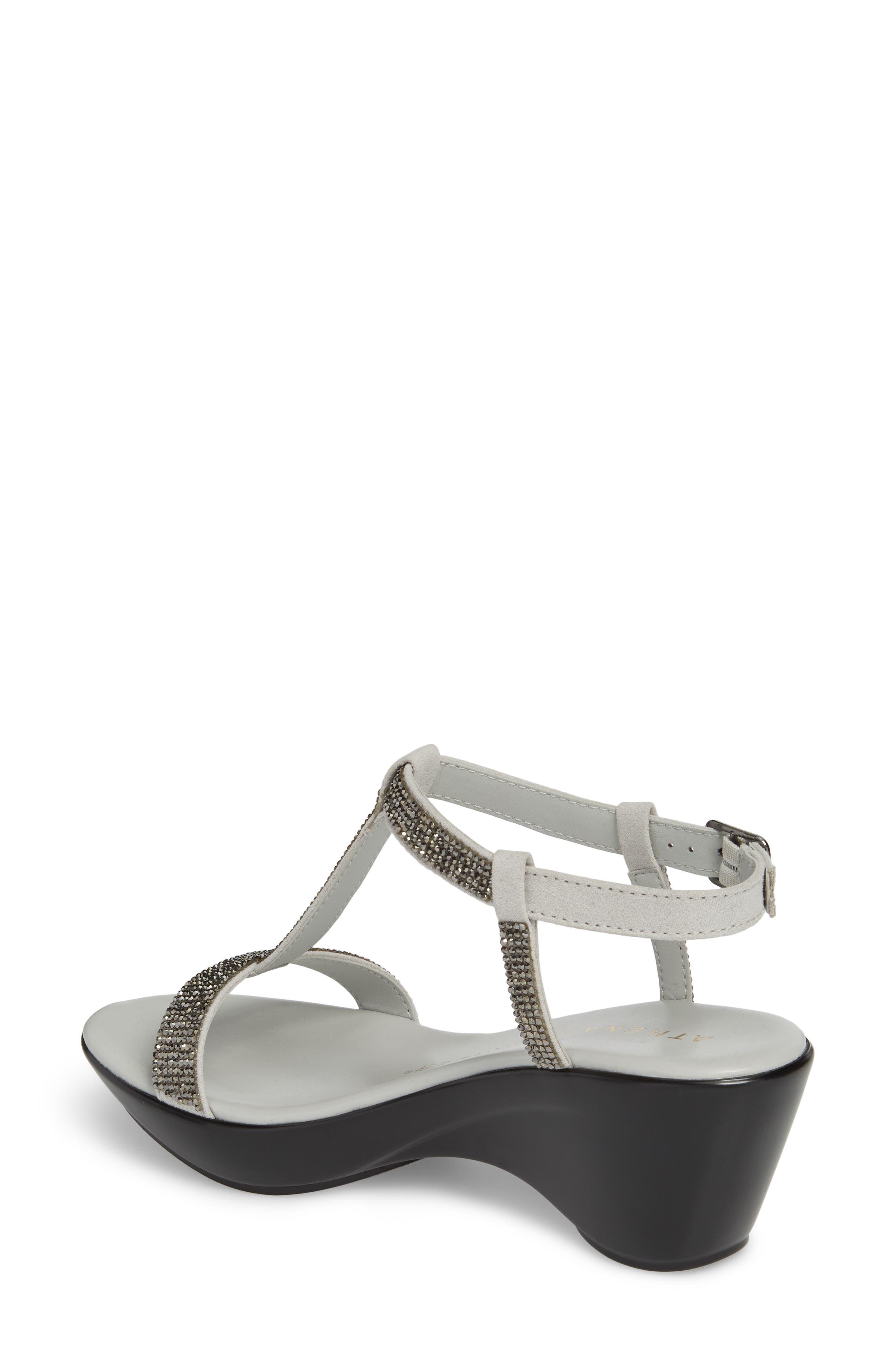 Athena Alexandar Karinya Embellished Strappy Wedge Sandal,                             Alternate thumbnail 2, color,                             Grey Suede