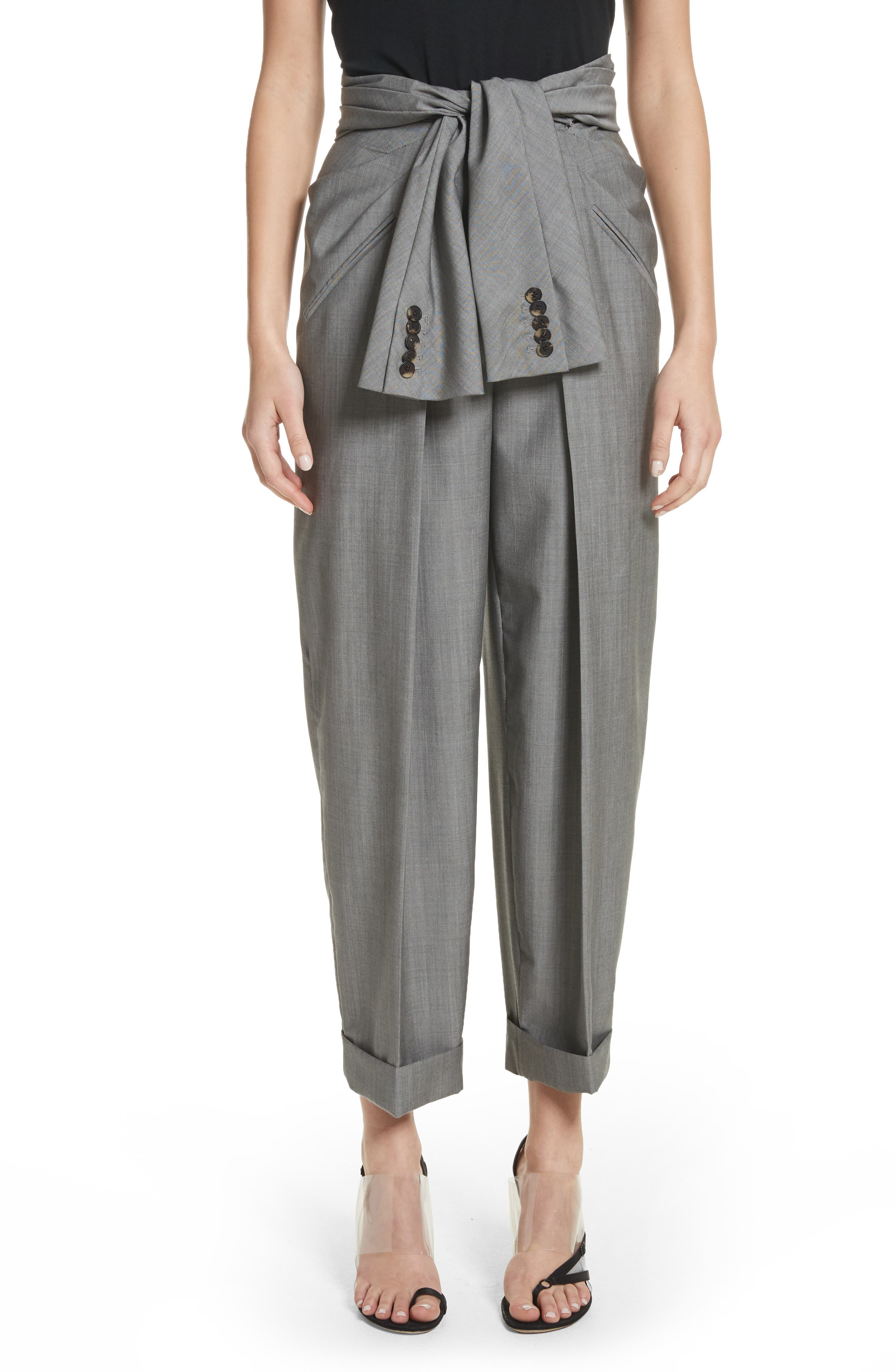 Alexander Wang Tie Waist Tapered Trousers