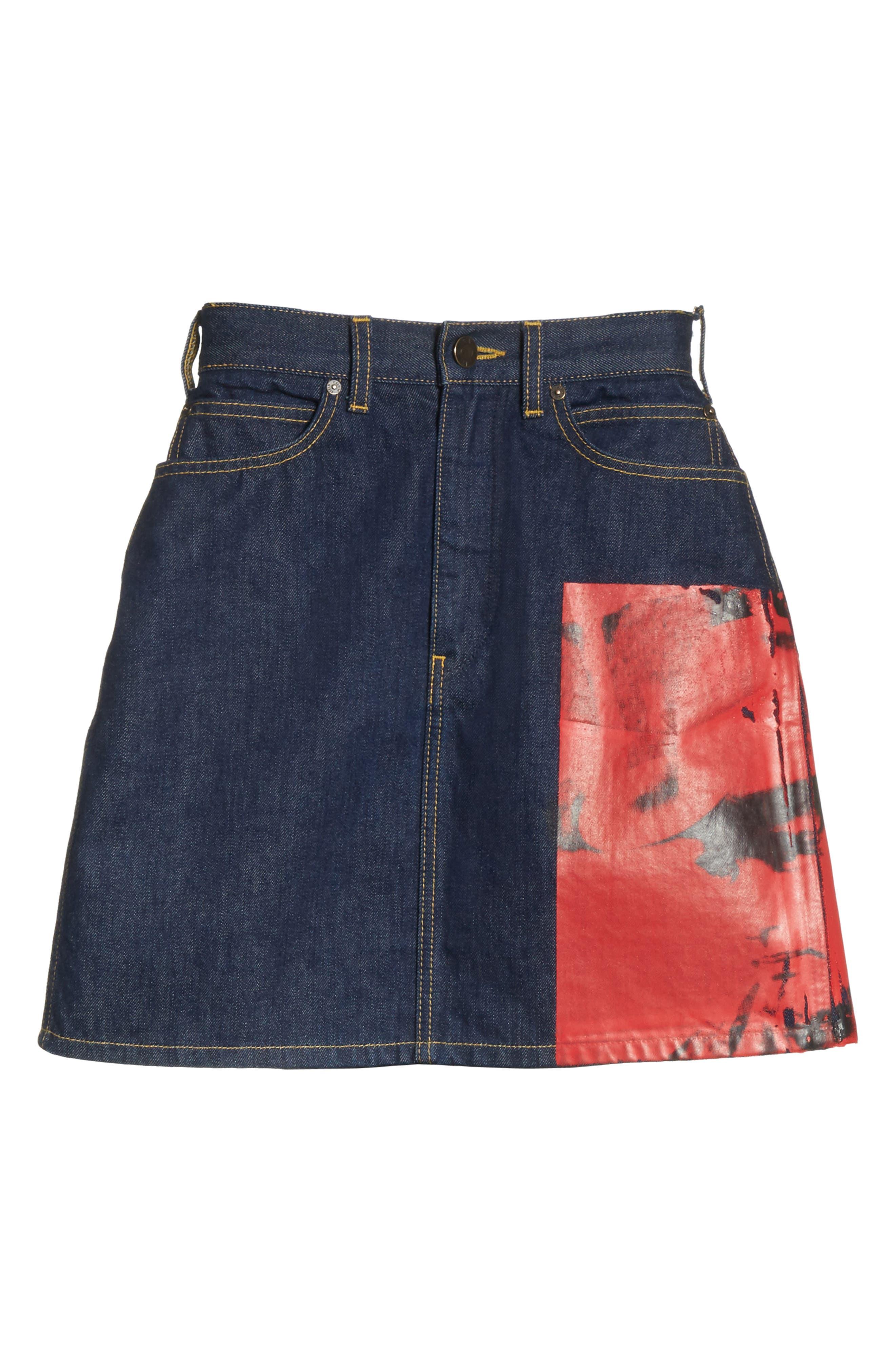 Alternate Image 7  - CALVIN KLEIN 205W39NYC x Andy Warhol Foundation Dennis Hopper Denim Skirt