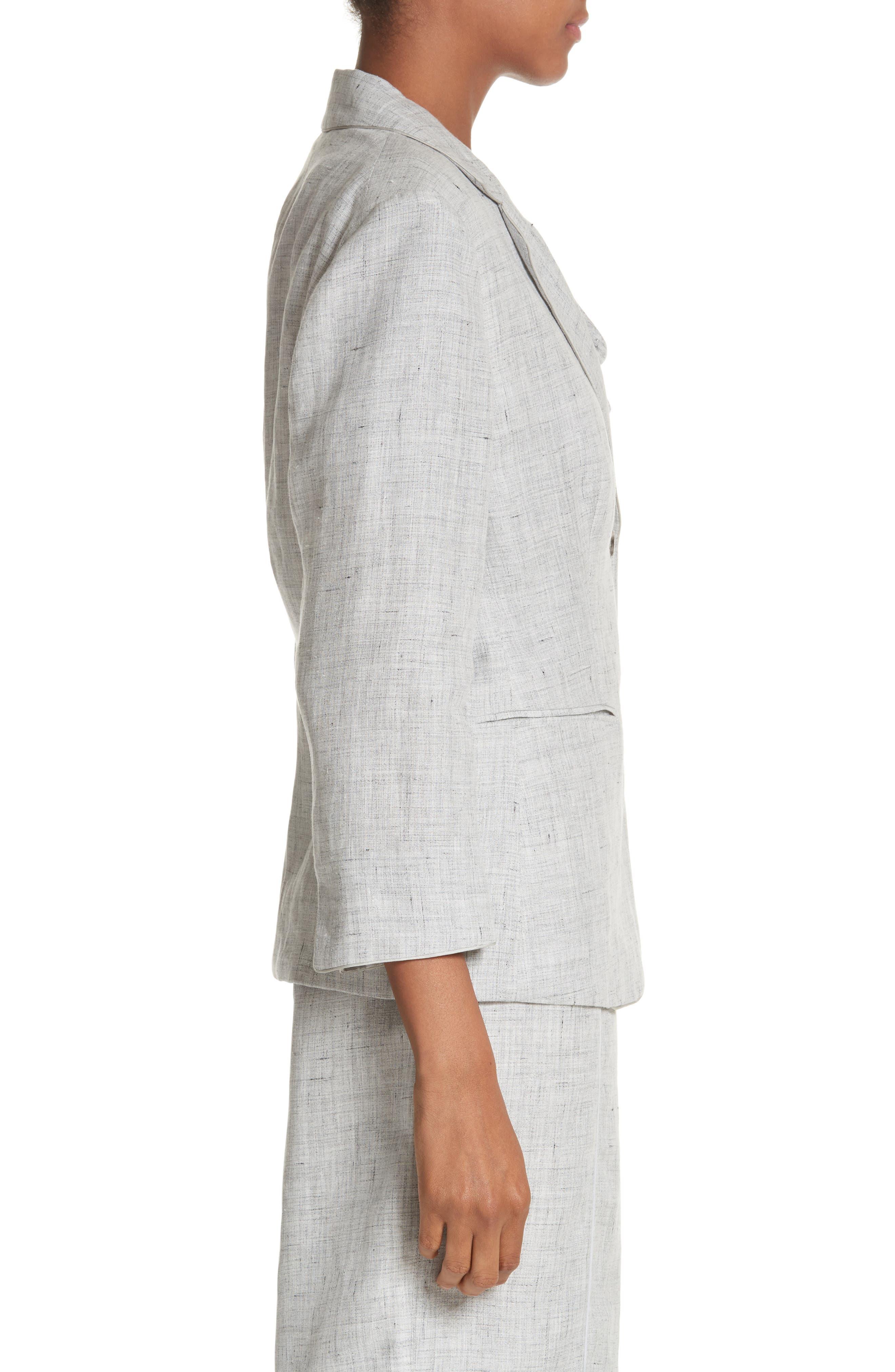Vello Linen Blazer,                             Alternate thumbnail 3, color,                             Light Grey