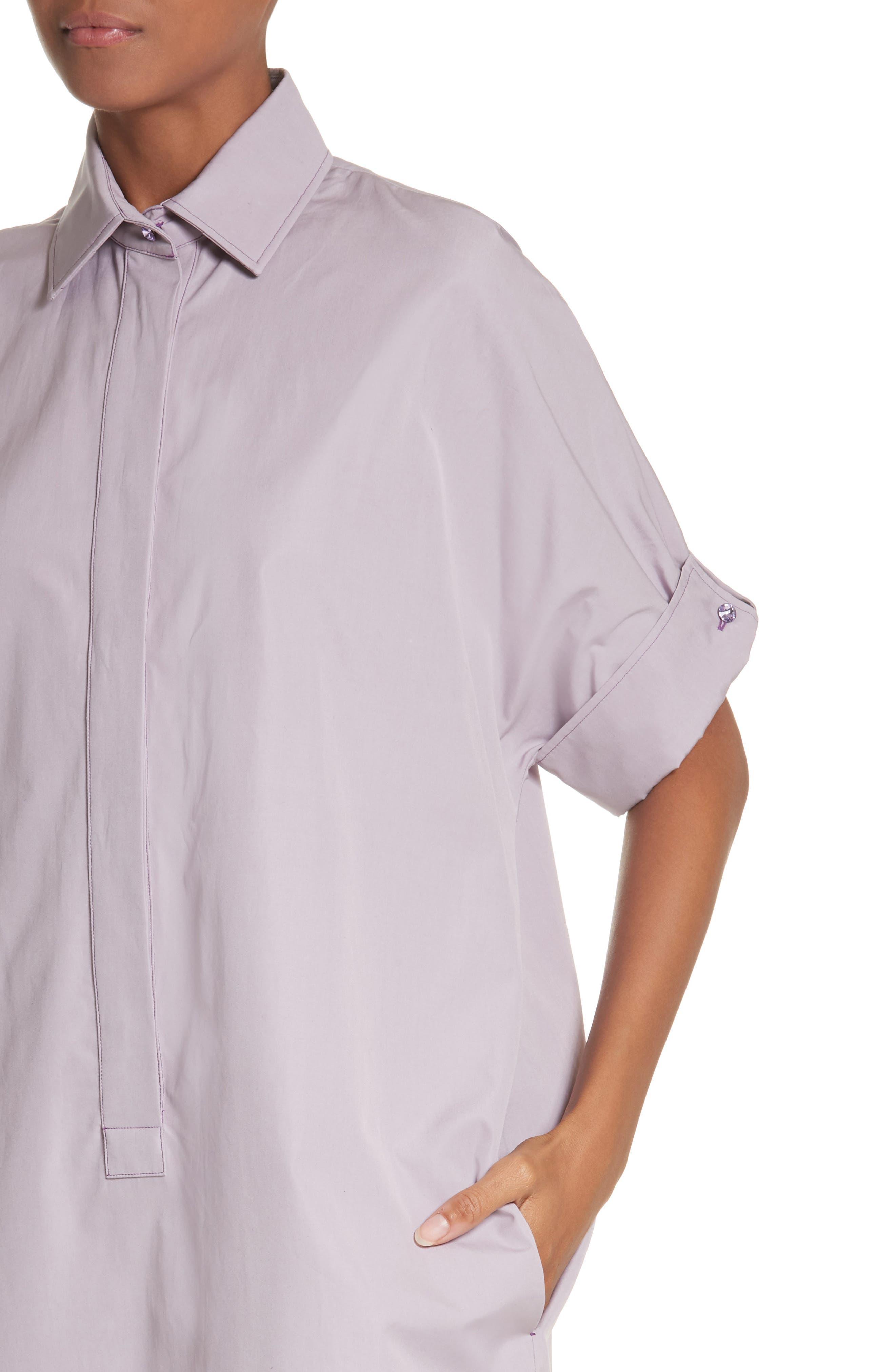 Alternate Image 5  - Max Mara Baccano Cotton Shirtdress