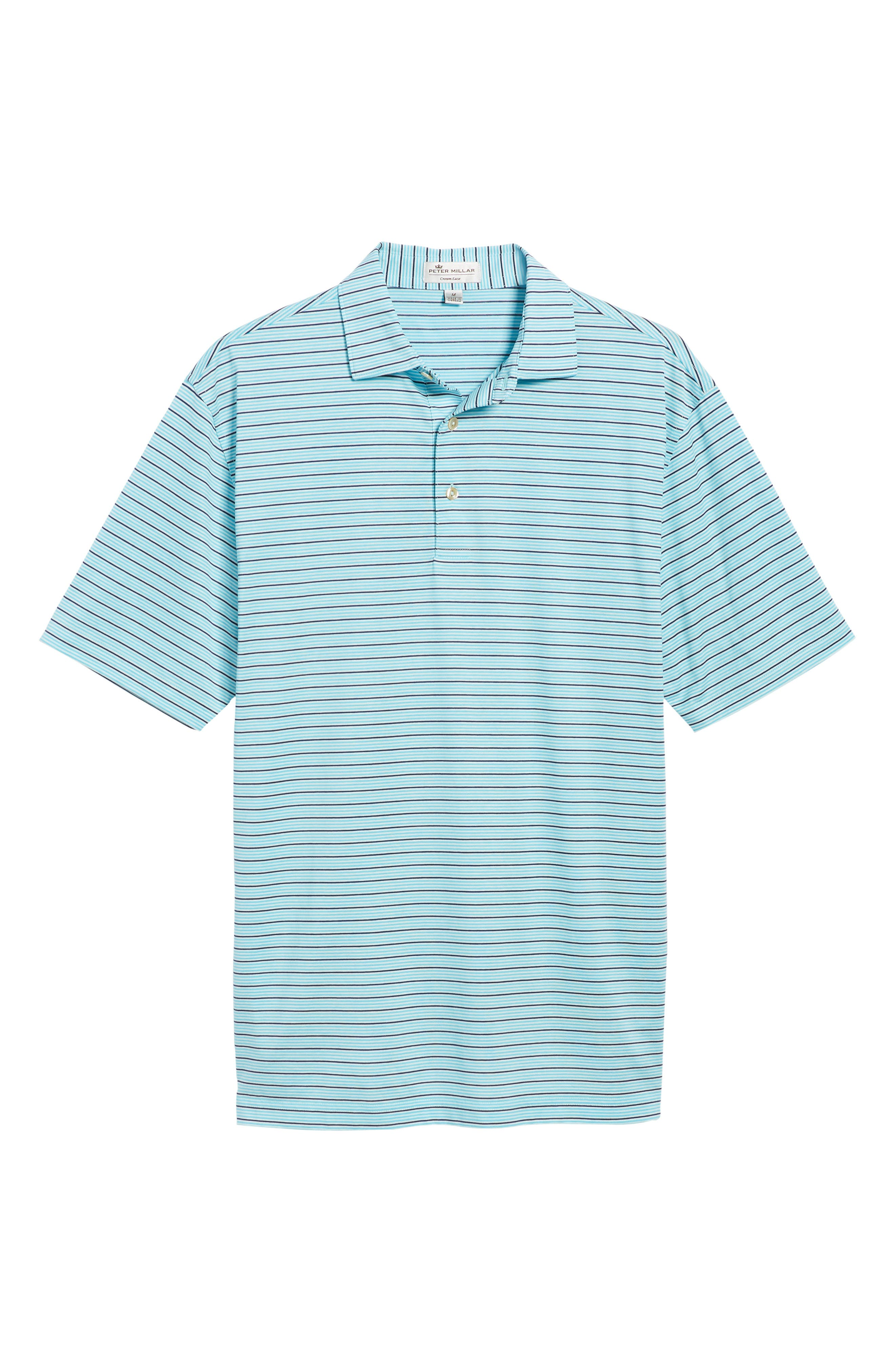 Alternate Image 6  - Peter Millar Grandview Sean Stripe Nanoluxe Polo