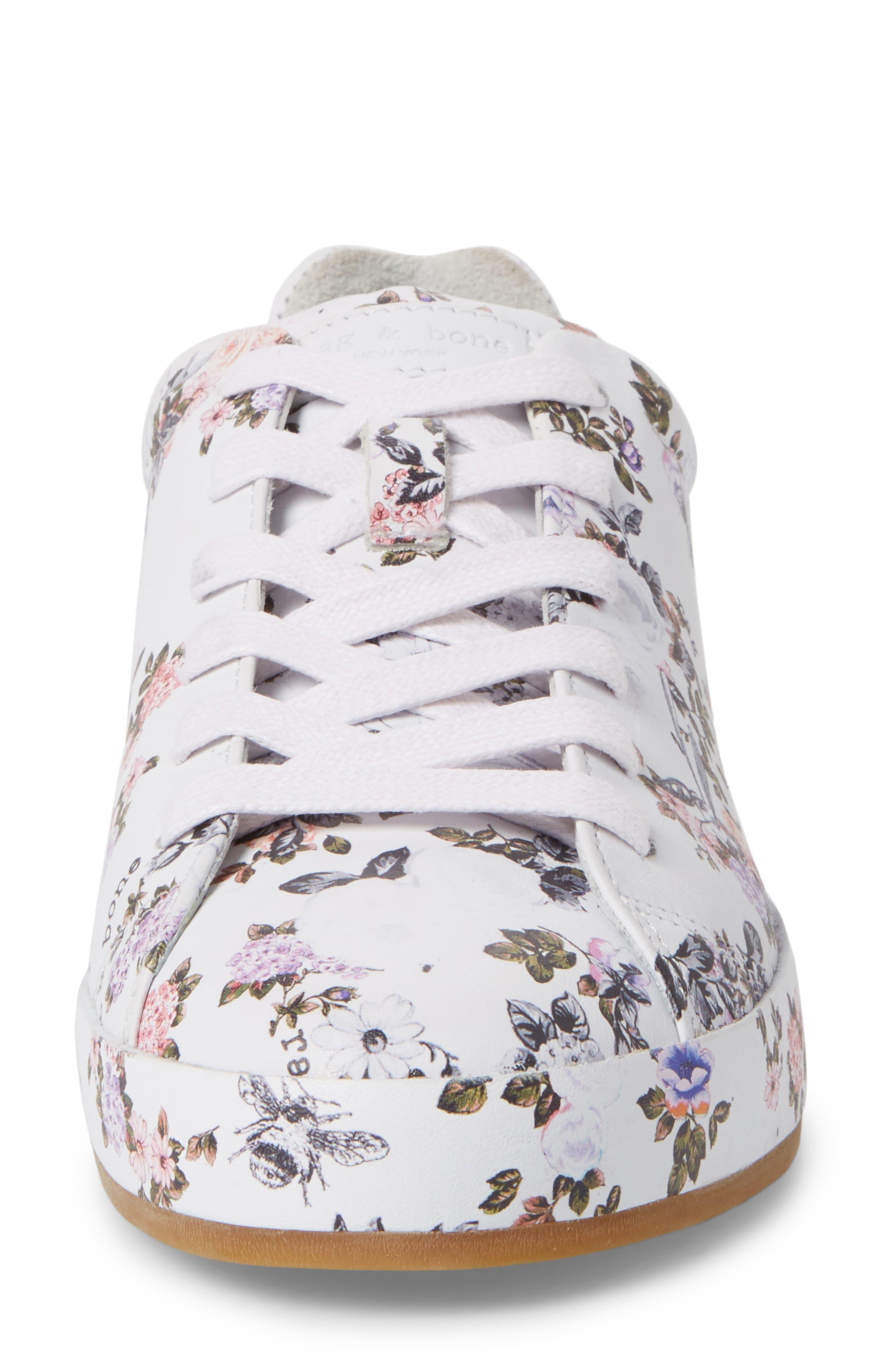 RB1 Low-Top Sneaker,                             Alternate thumbnail 4, color,                             Garden Florl