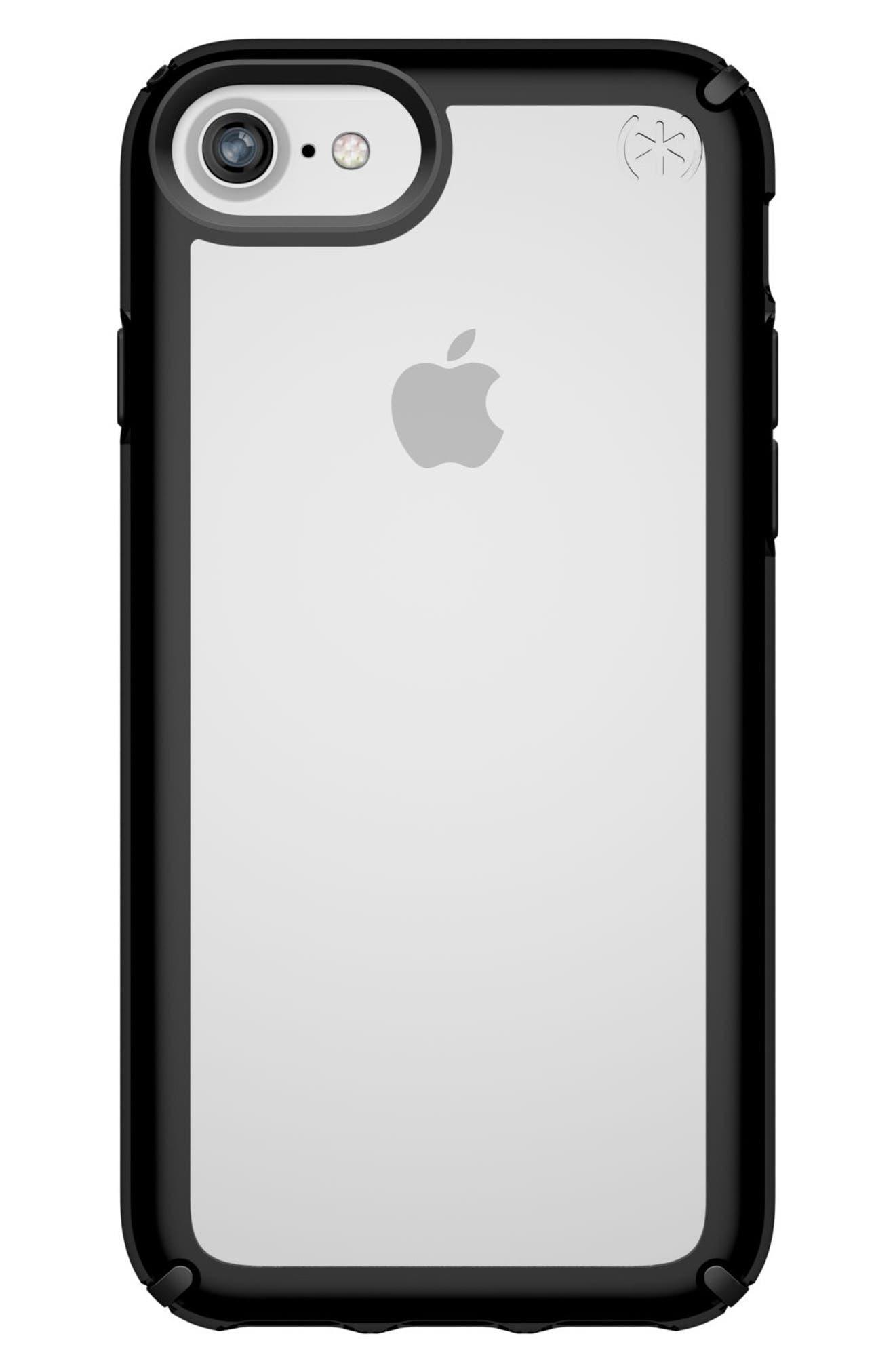 Transparent iPhone 6/6s/7/8 Case,                         Main,                         color, Clear/ Black