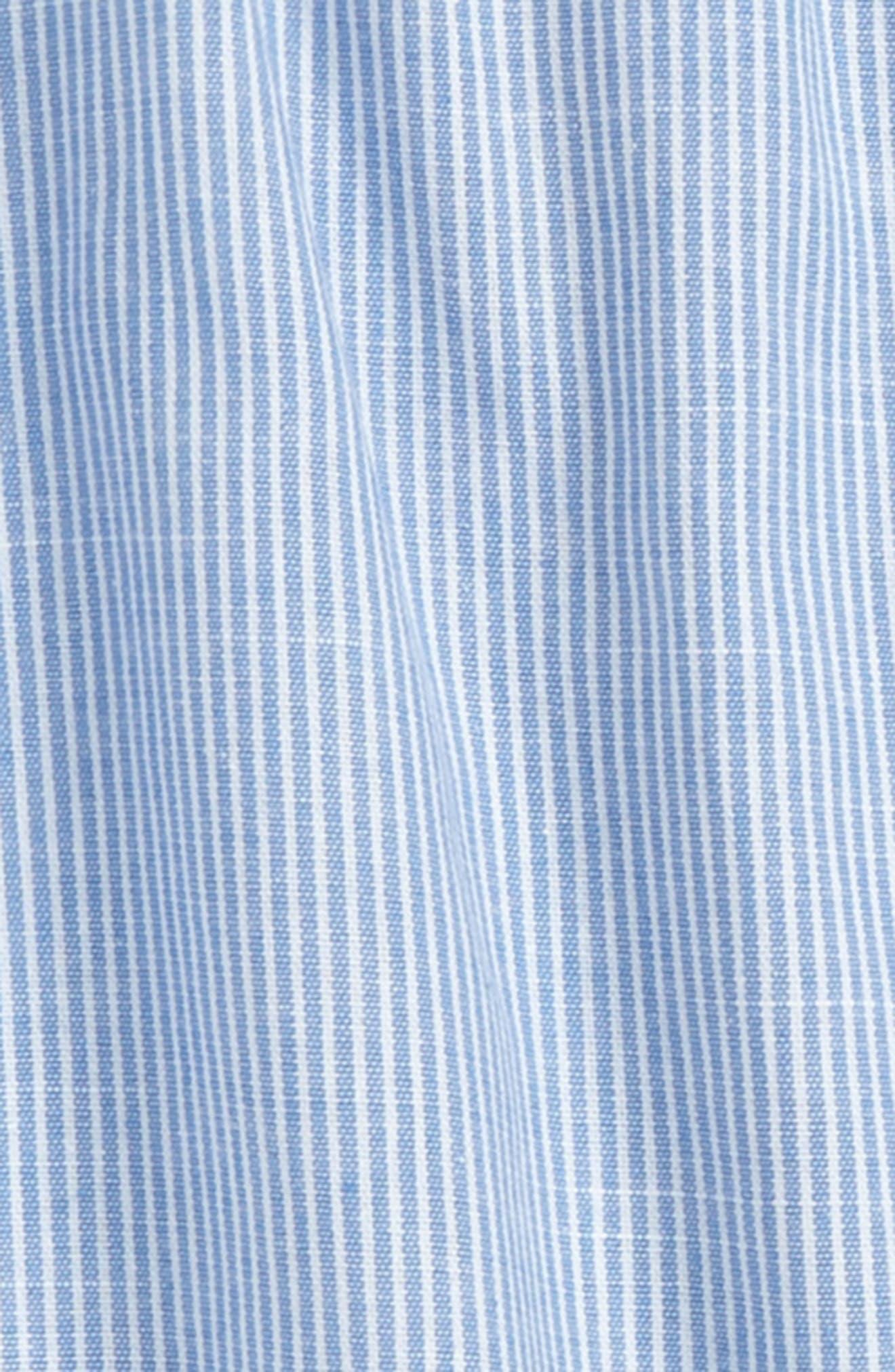 Pom Trimmed Off the Shoulder Top,                             Alternate thumbnail 2, color,                             Blue Ivory