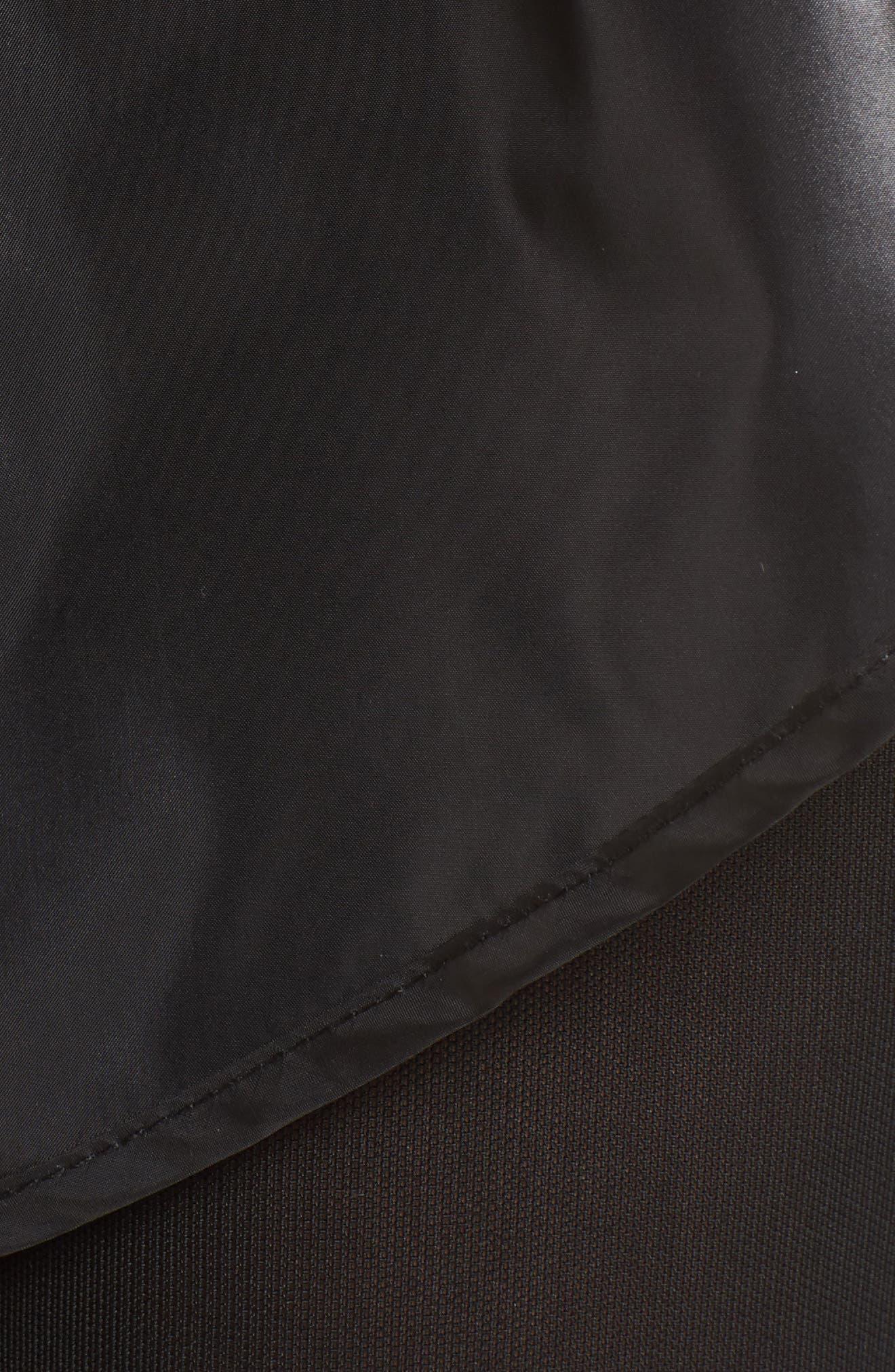 Hi Shine Double Layer Shorts,                             Alternate thumbnail 7, color,                             Black