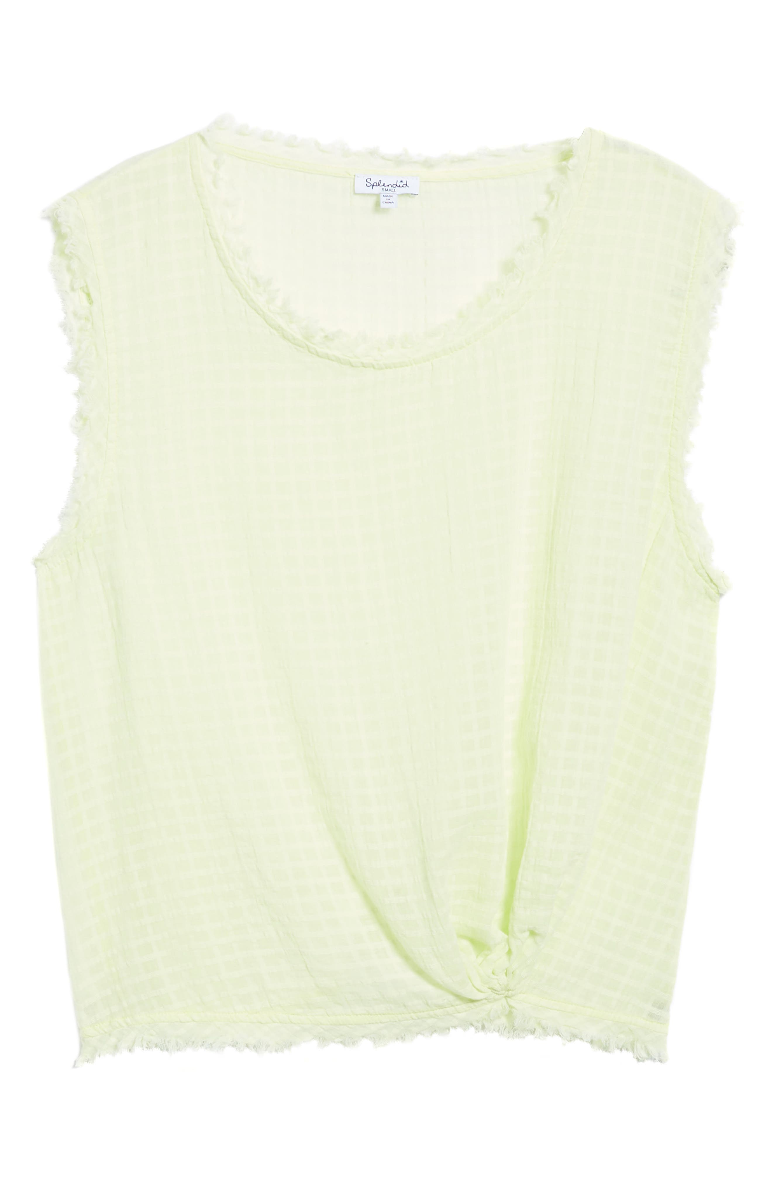 Check Woven Tank,                             Alternate thumbnail 7, color,                             Yellow Glow