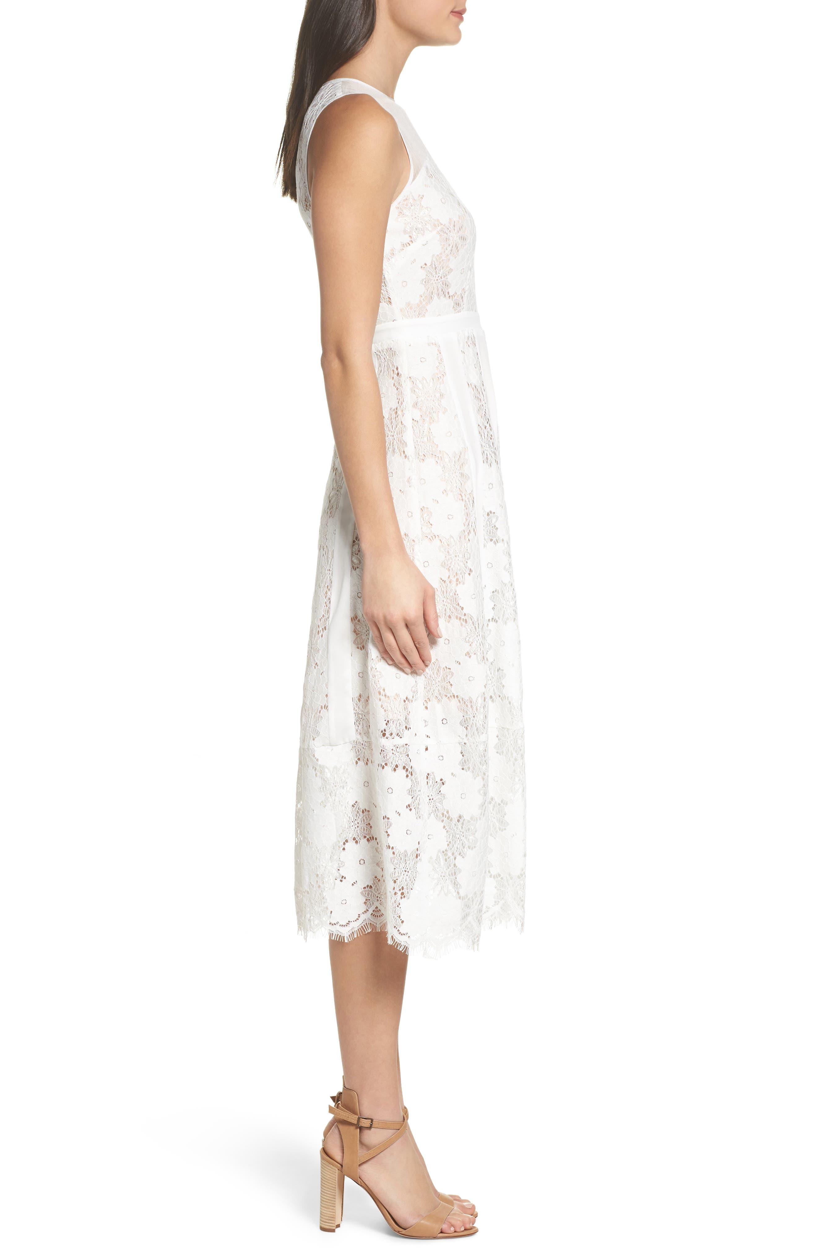 Alternate Image 3  - Chelsea28 Lace Midi Dress