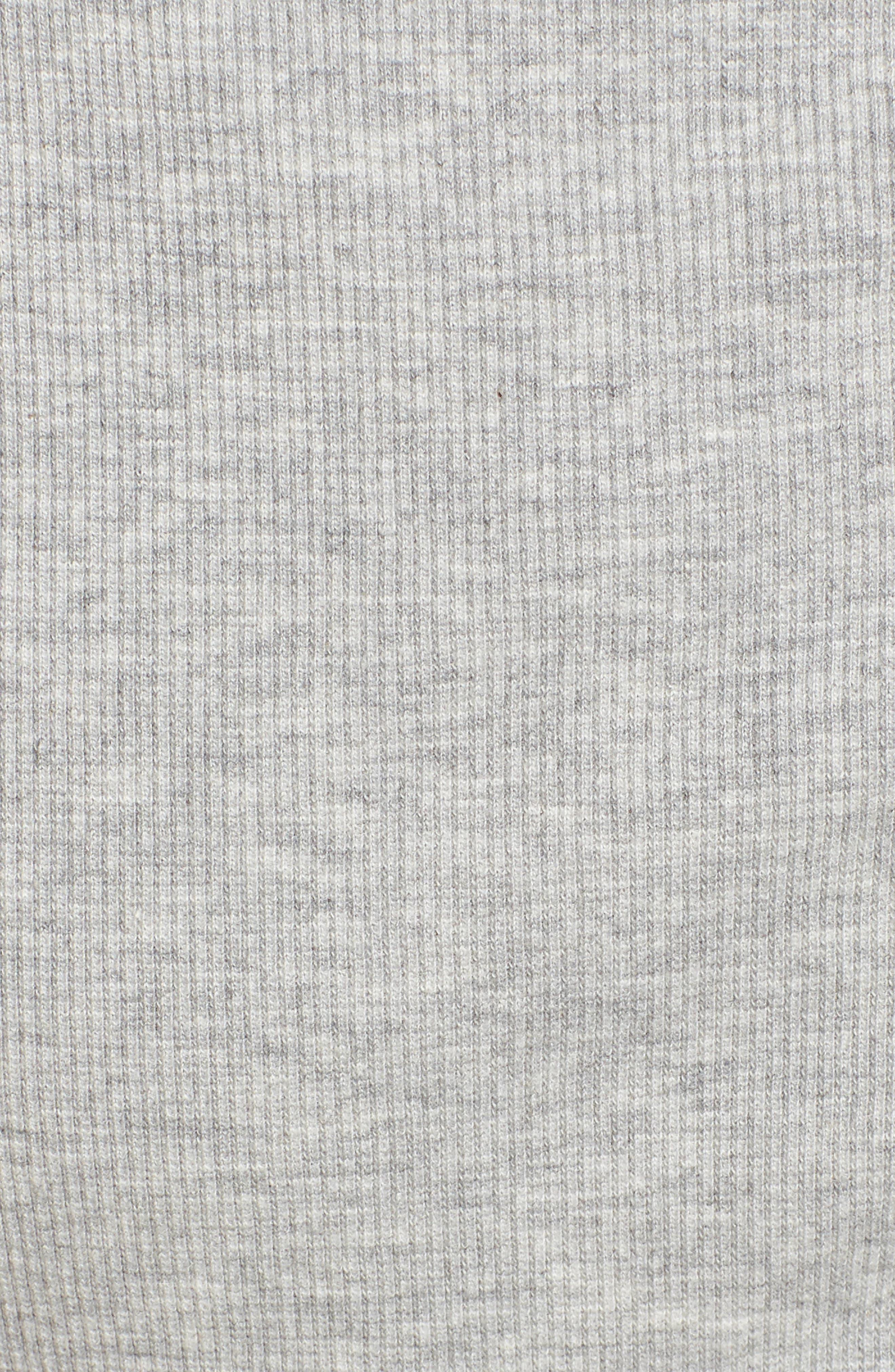 Cross Back Hooded Crop Top,                             Alternate thumbnail 6, color,                             Grey Marl