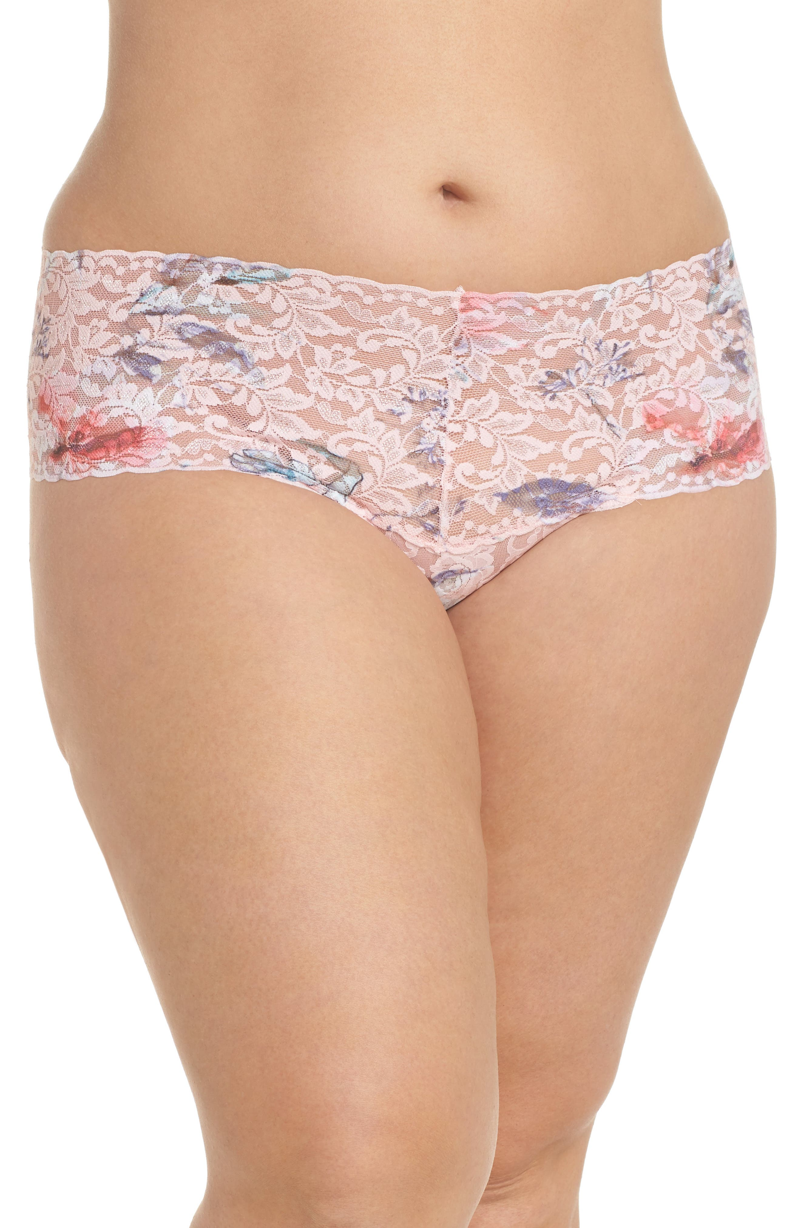Cherie Retro Thong,                         Main,                         color, Pink Multi