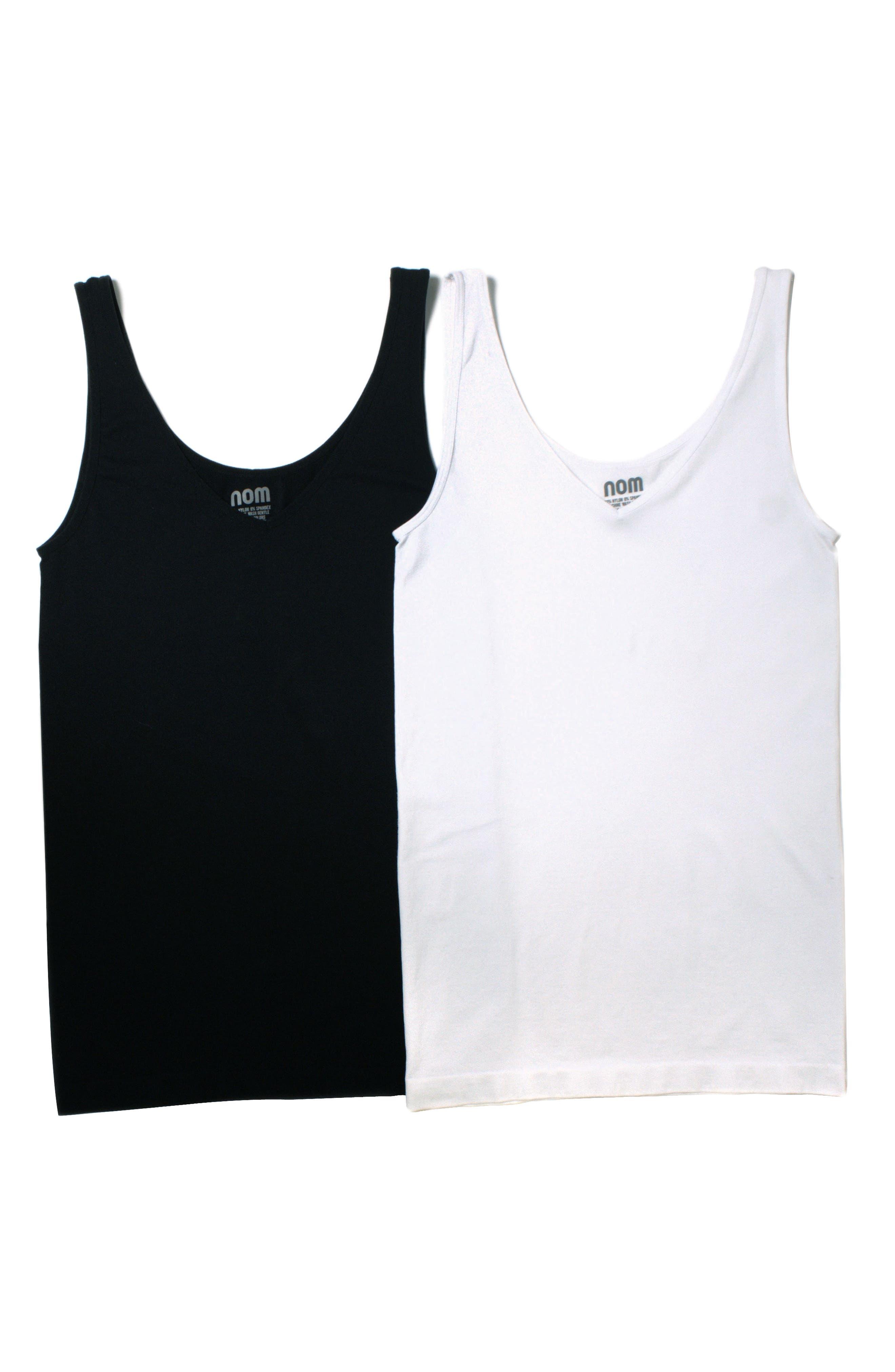 2-Pack Seamless Maternity Tanks,                             Main thumbnail 1, color,                             Black And White Set