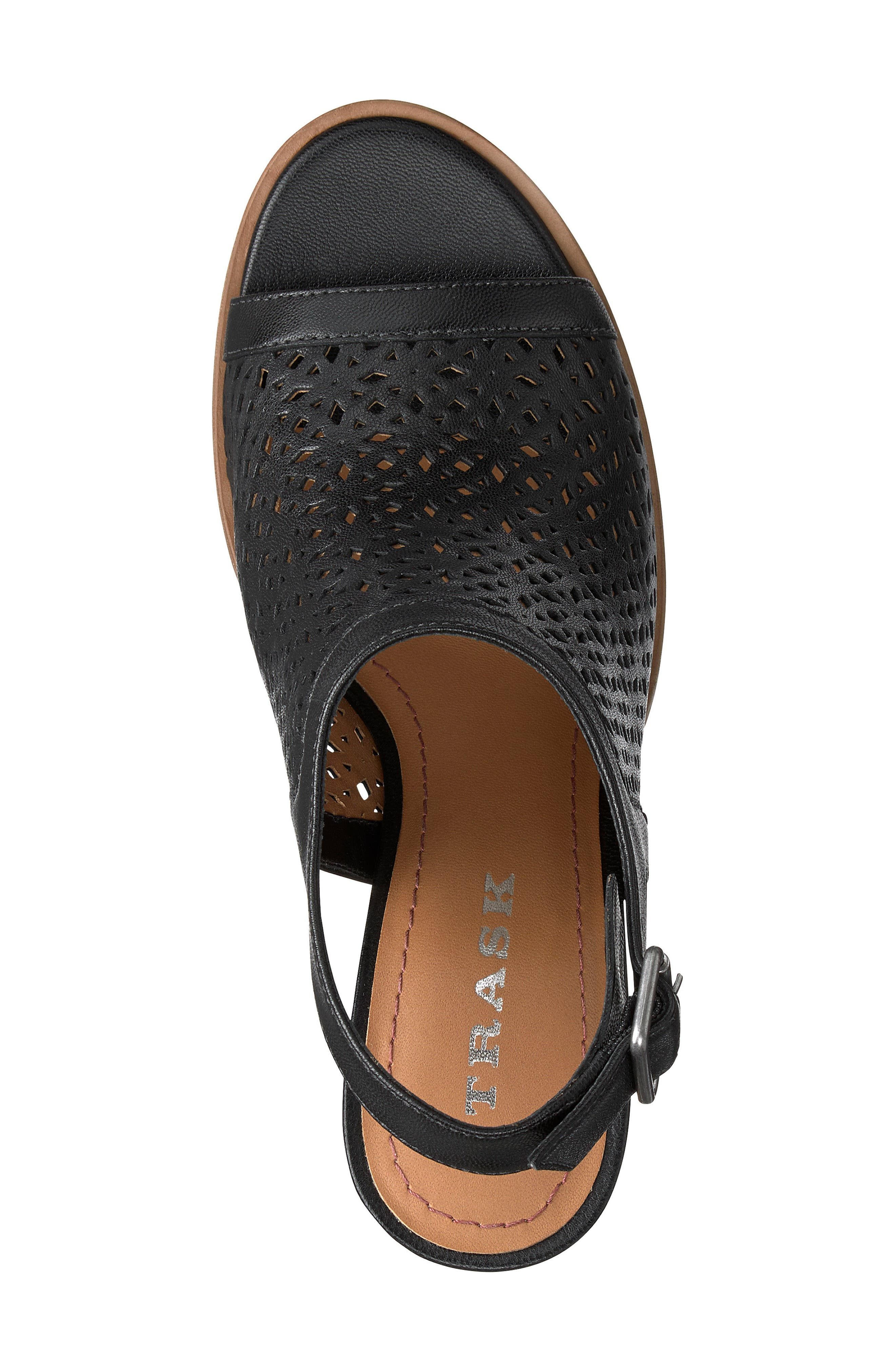 Parker Slingback Sandal,                             Alternate thumbnail 5, color,                             Black Leather