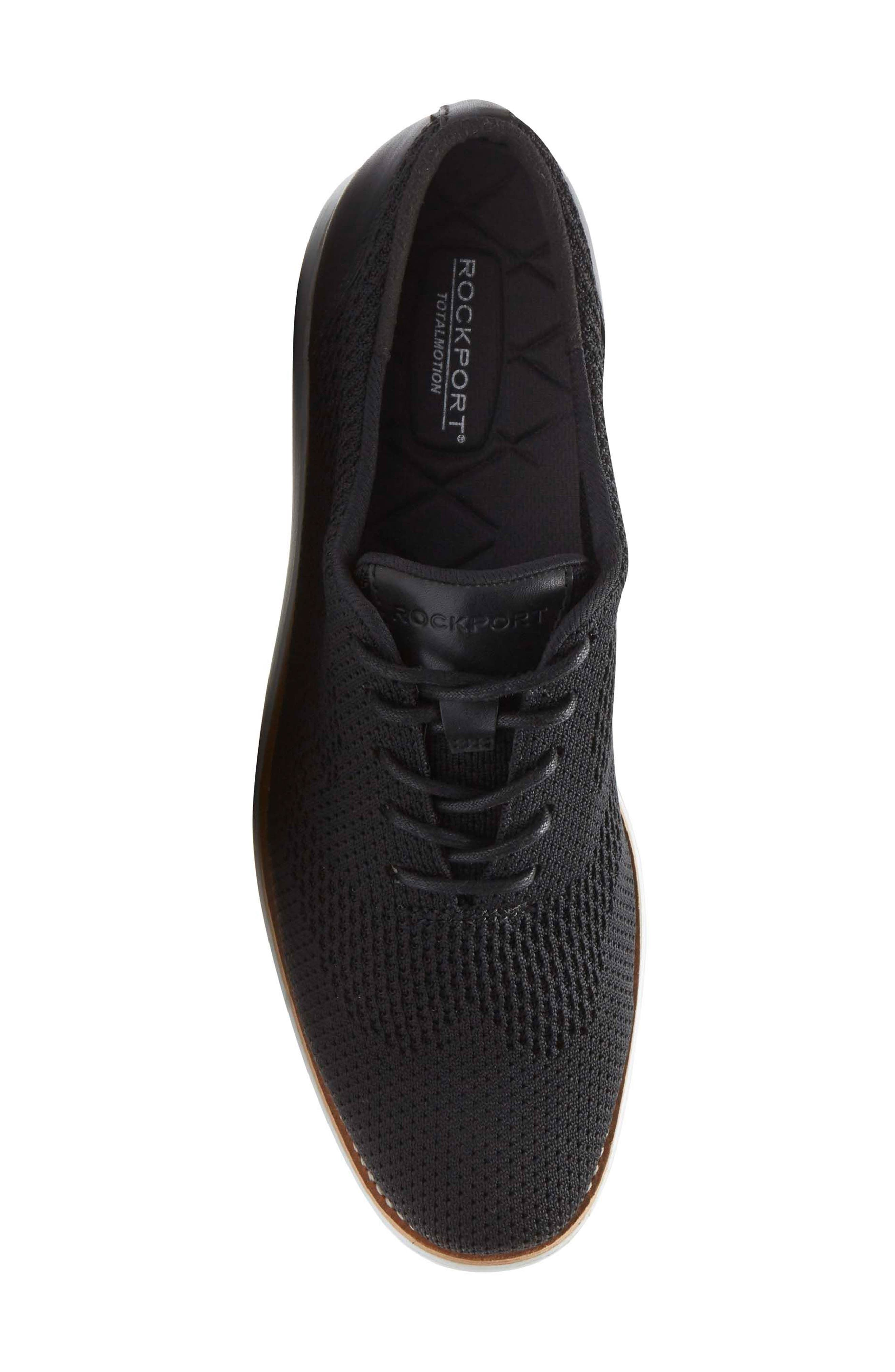 Total Motion Sport Oxford,                             Alternate thumbnail 5, color,                             Black Leather