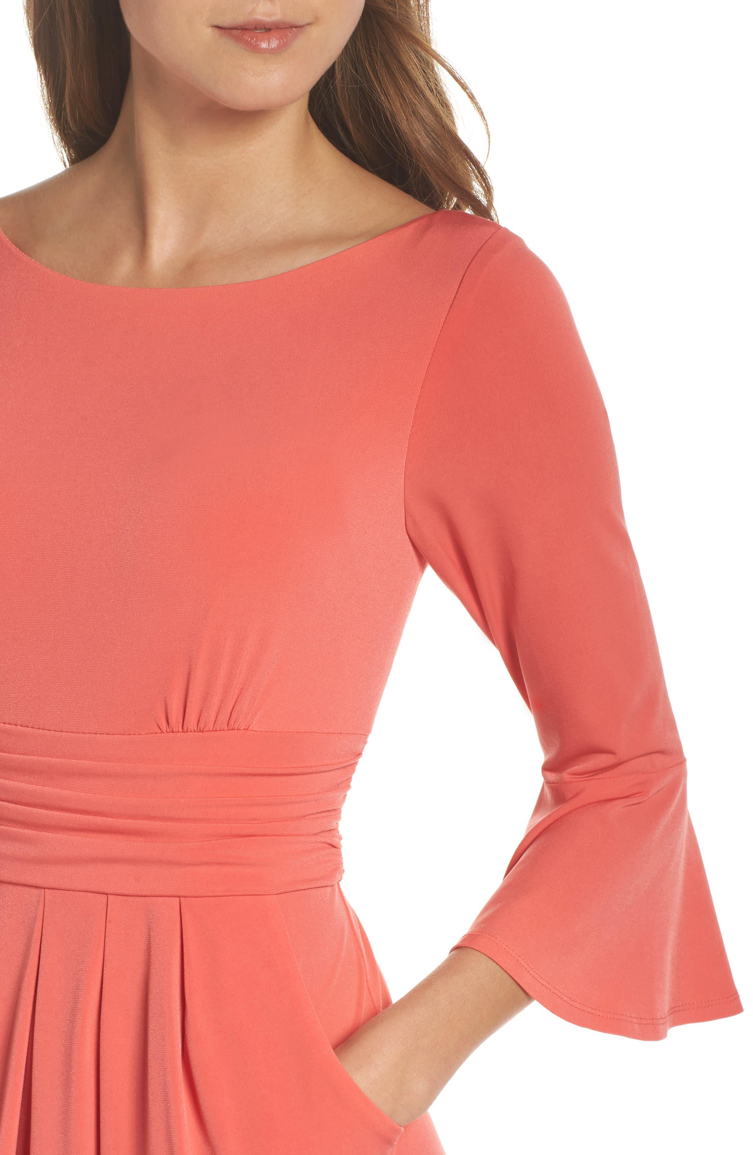Alternate Image 4  - Eliza J Flounce Sleeve Sheath Dress
