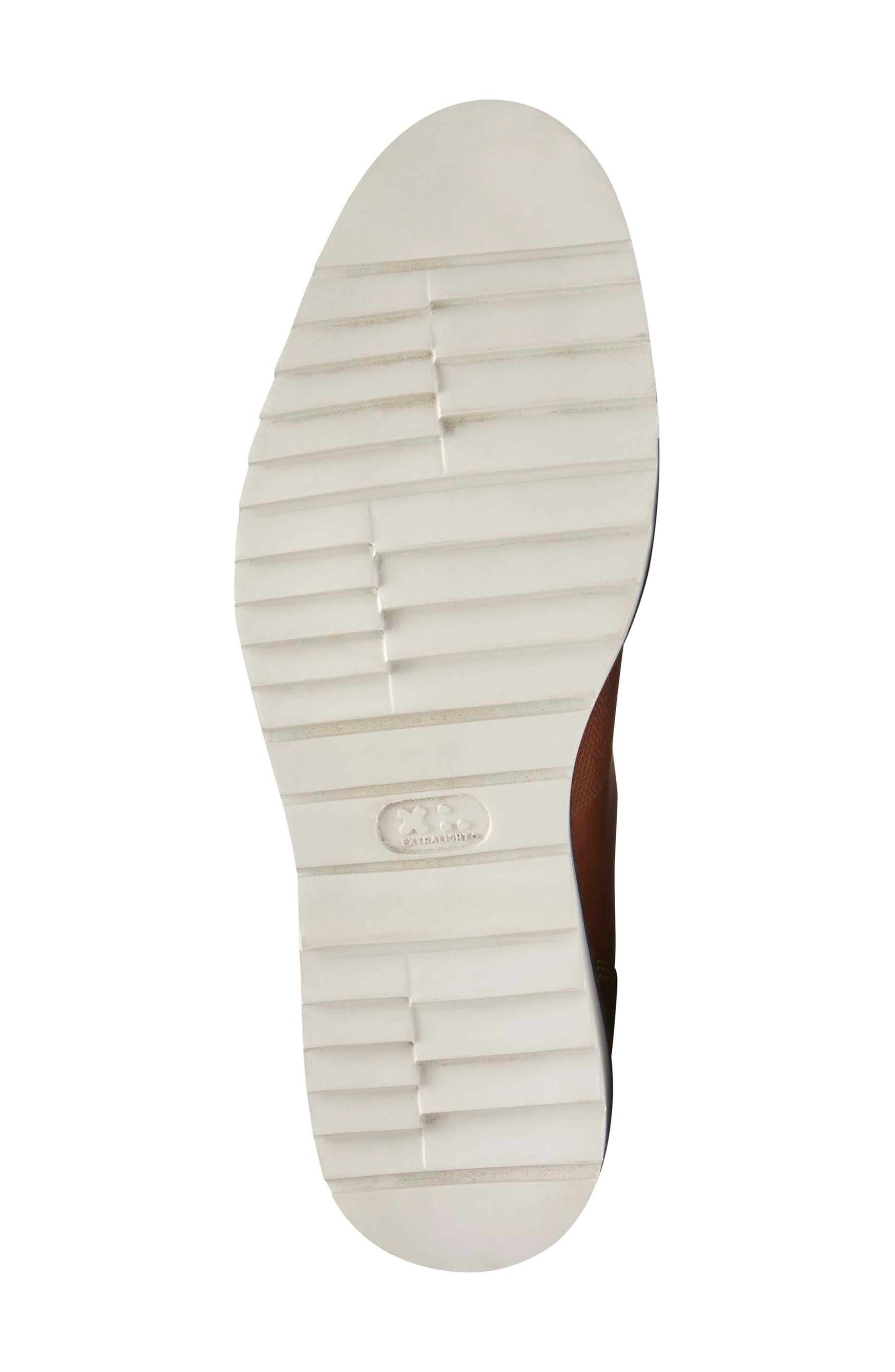 Jaxson Wingtip Slip-On,                             Alternate thumbnail 6, color,                             Tan Leather