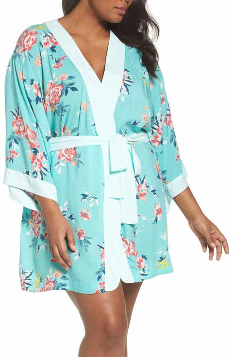 Nordstrom Lingerie Sweet Dreams Short Robe (Plus Size)