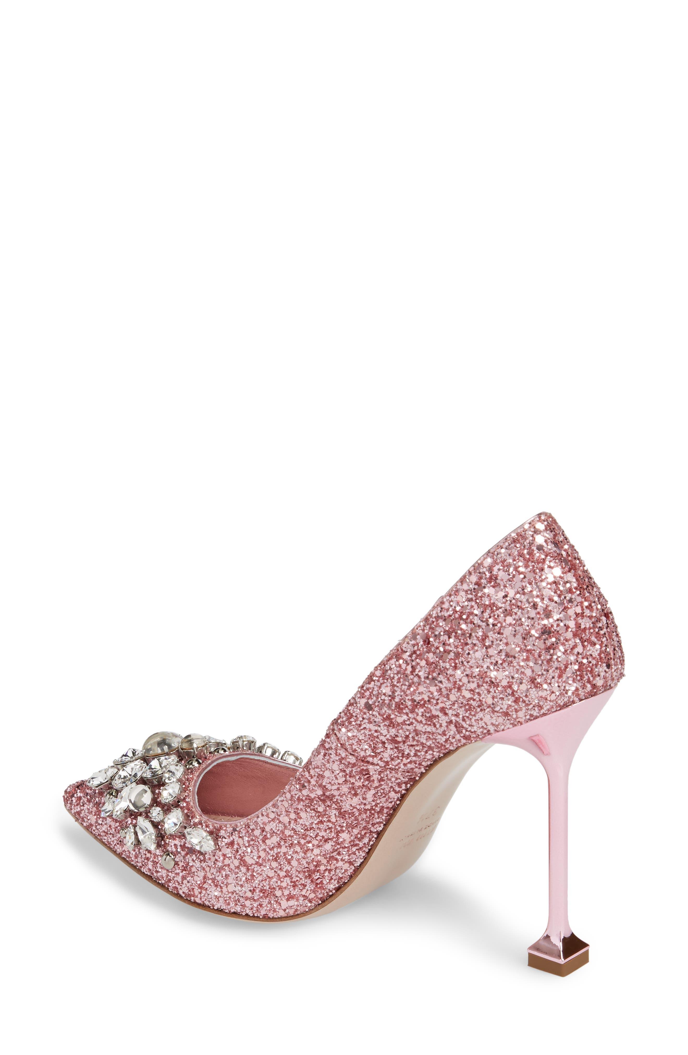 Embellished Glitter Pump,                             Alternate thumbnail 2, color,                             Pink