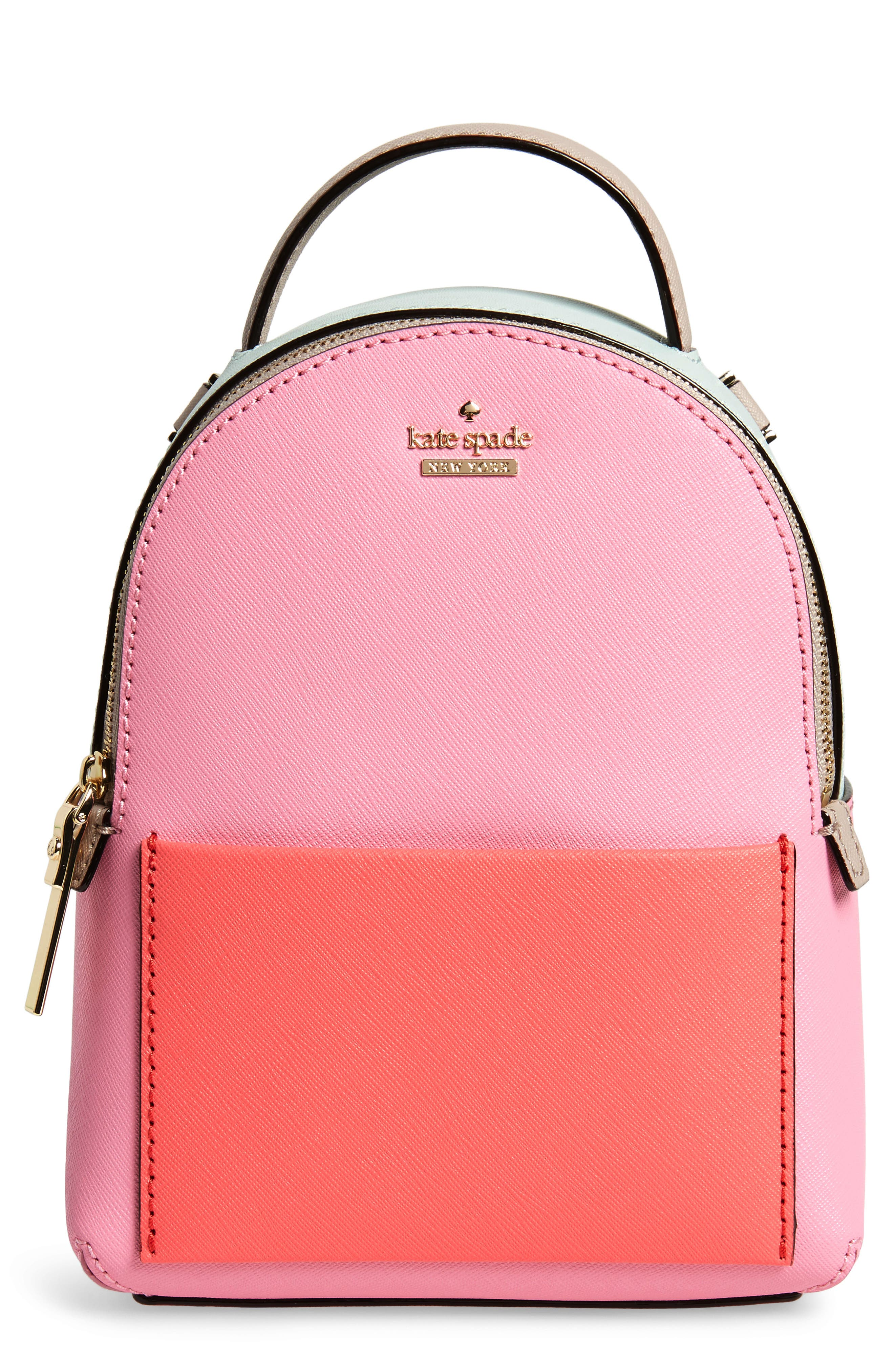 cameron street merry convertible leather backpack,                             Main thumbnail 1, color,                             Eraser Pink Multi