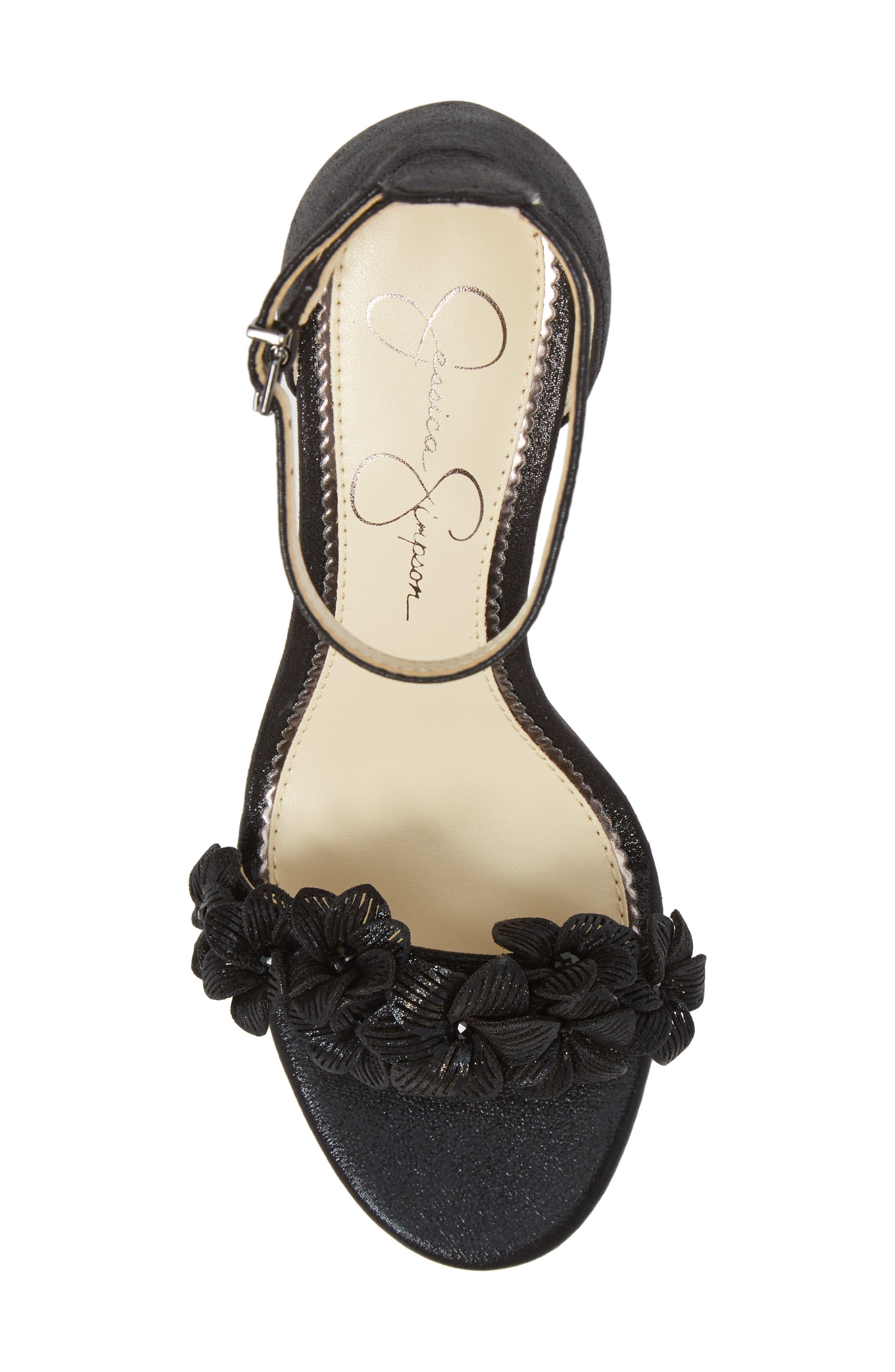Pouline Sandal,                             Alternate thumbnail 5, color,                             Black Fabric