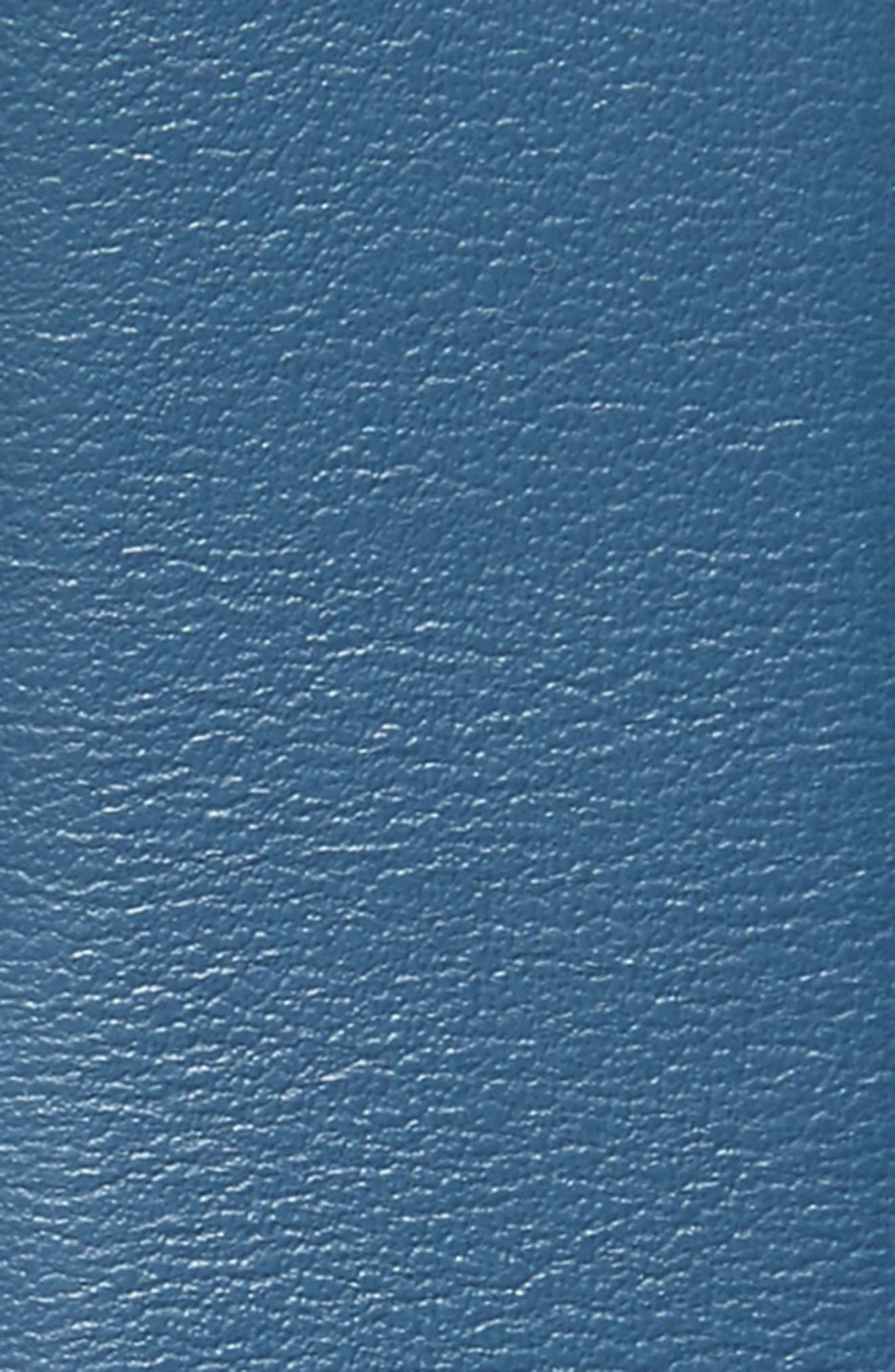 Reversible Leather Belt,                             Alternate thumbnail 3, color,                             Blue