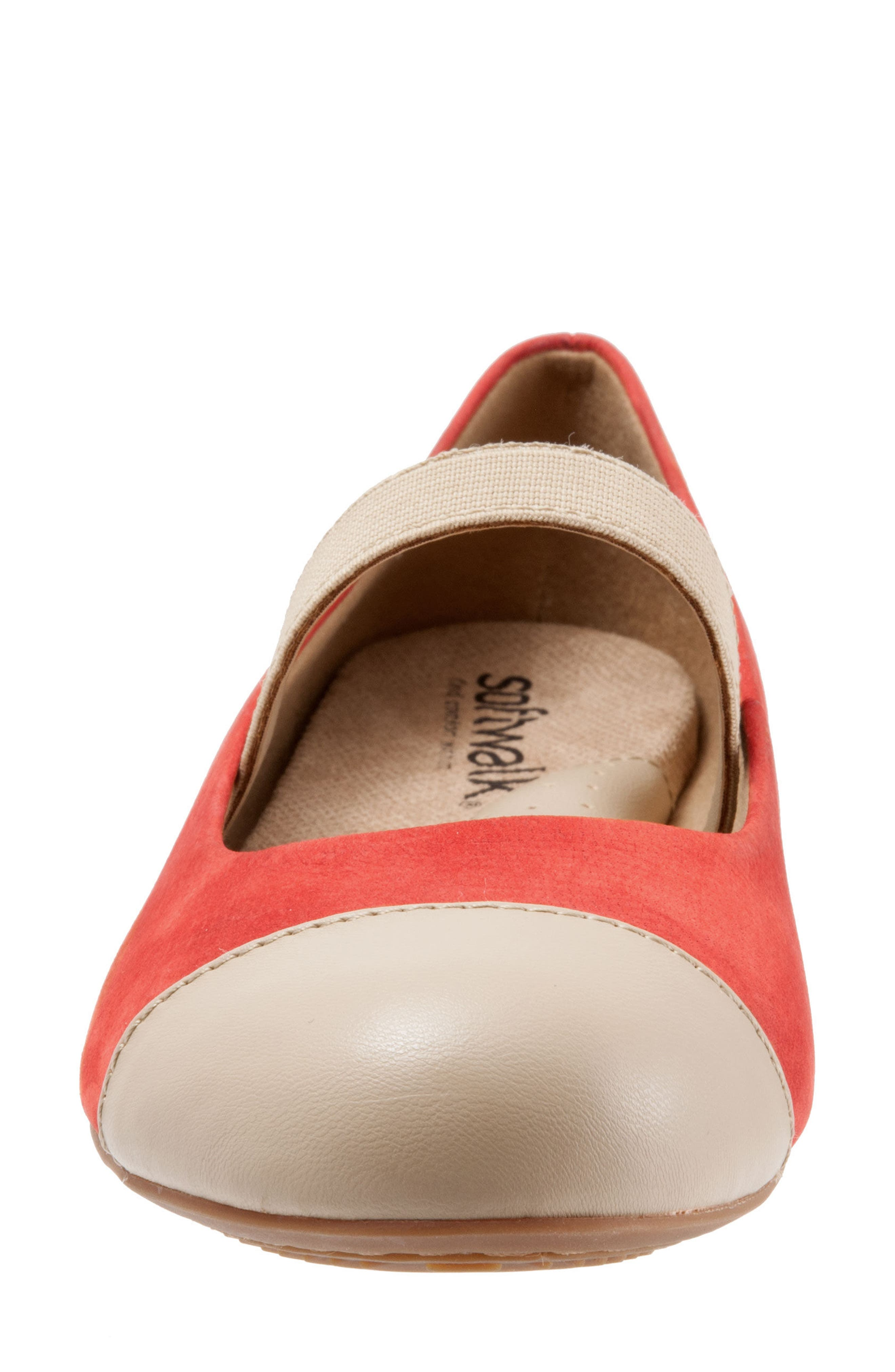 Napa Mary Jane Flat,                             Alternate thumbnail 6, color,                             Red/ Nude Leather