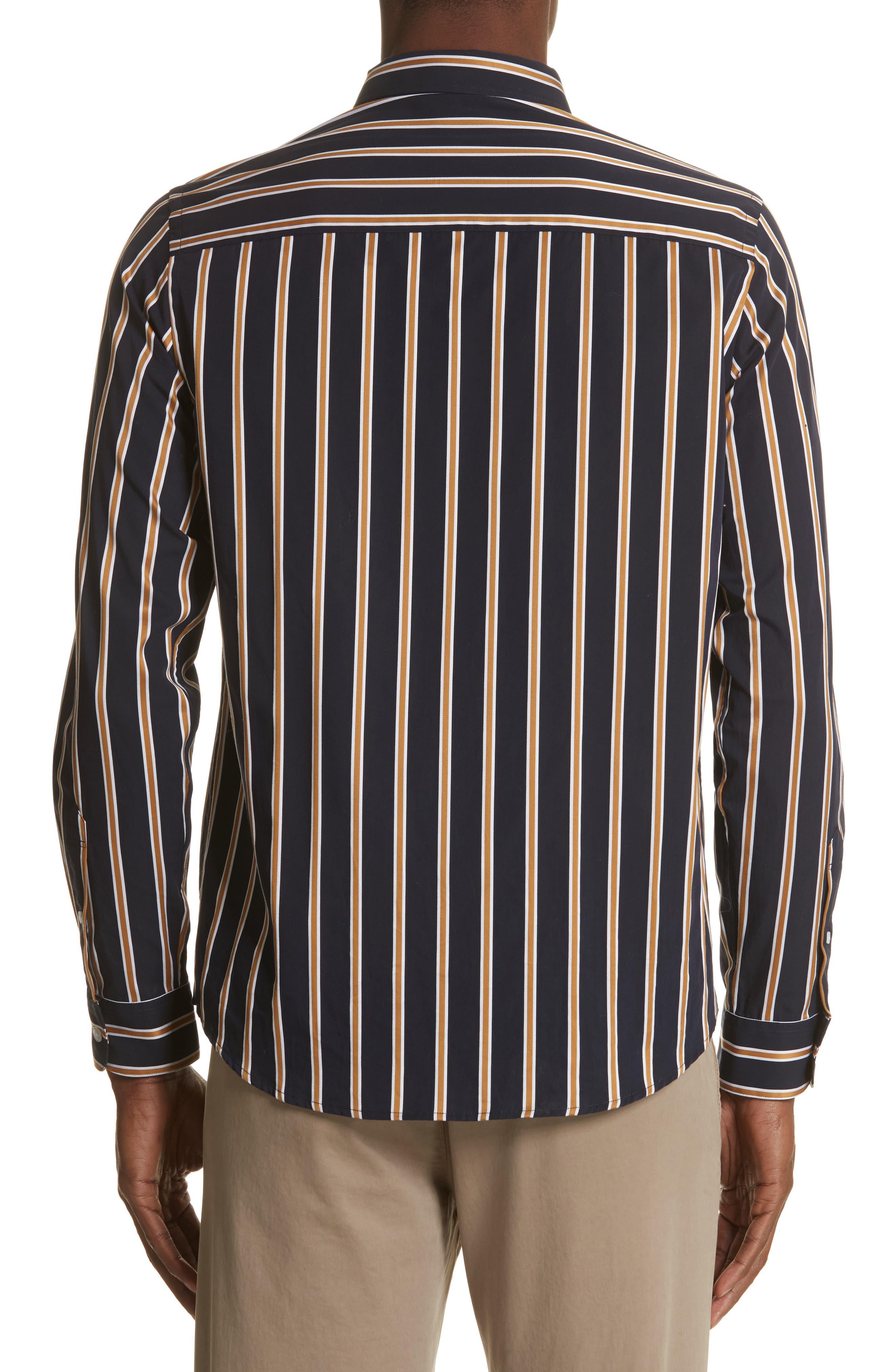 Alternate Image 2  - Saturdays NYC Crosby Satin Stripe Shirt