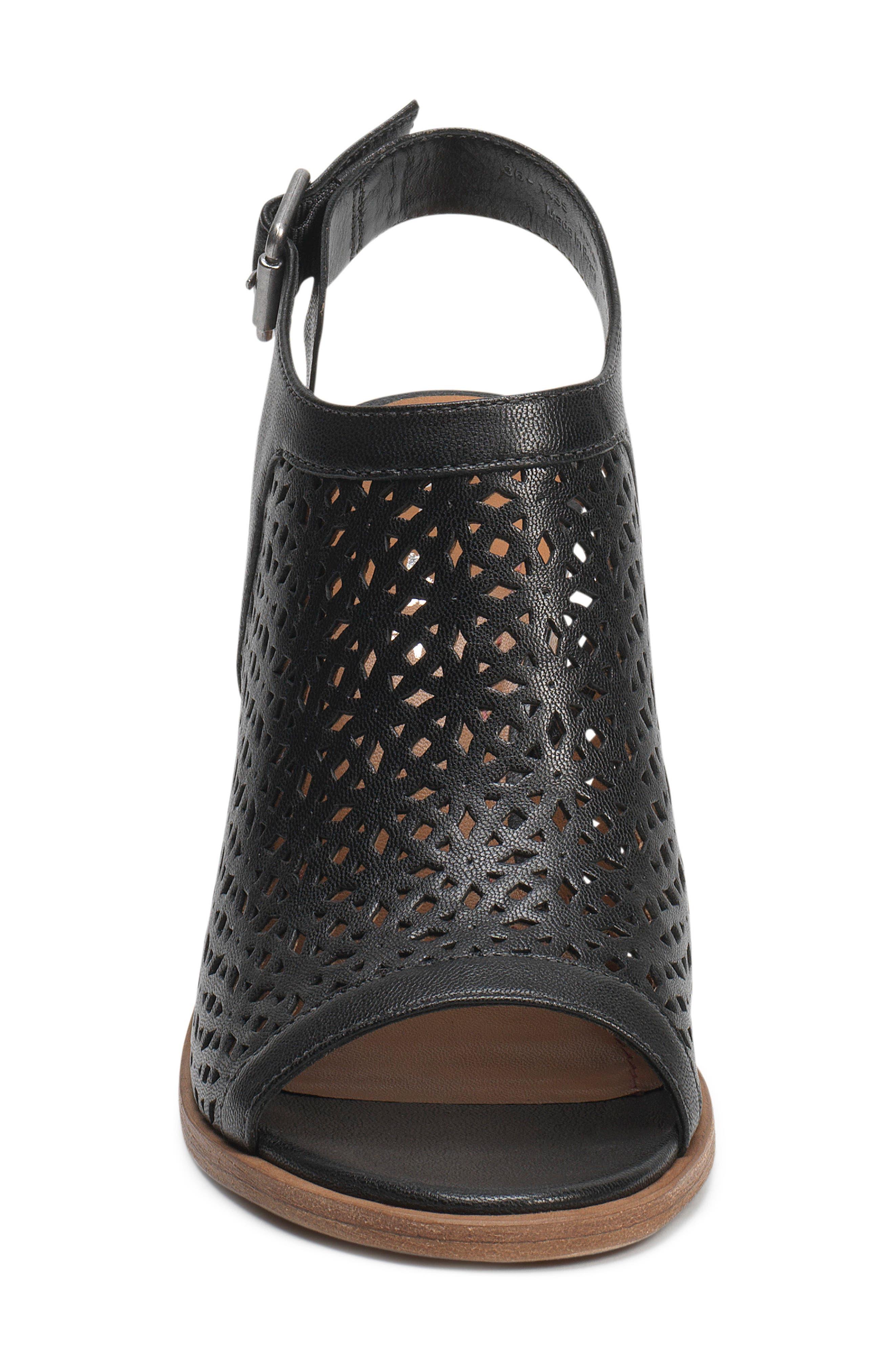 Parker Slingback Sandal,                             Alternate thumbnail 4, color,                             Black Leather