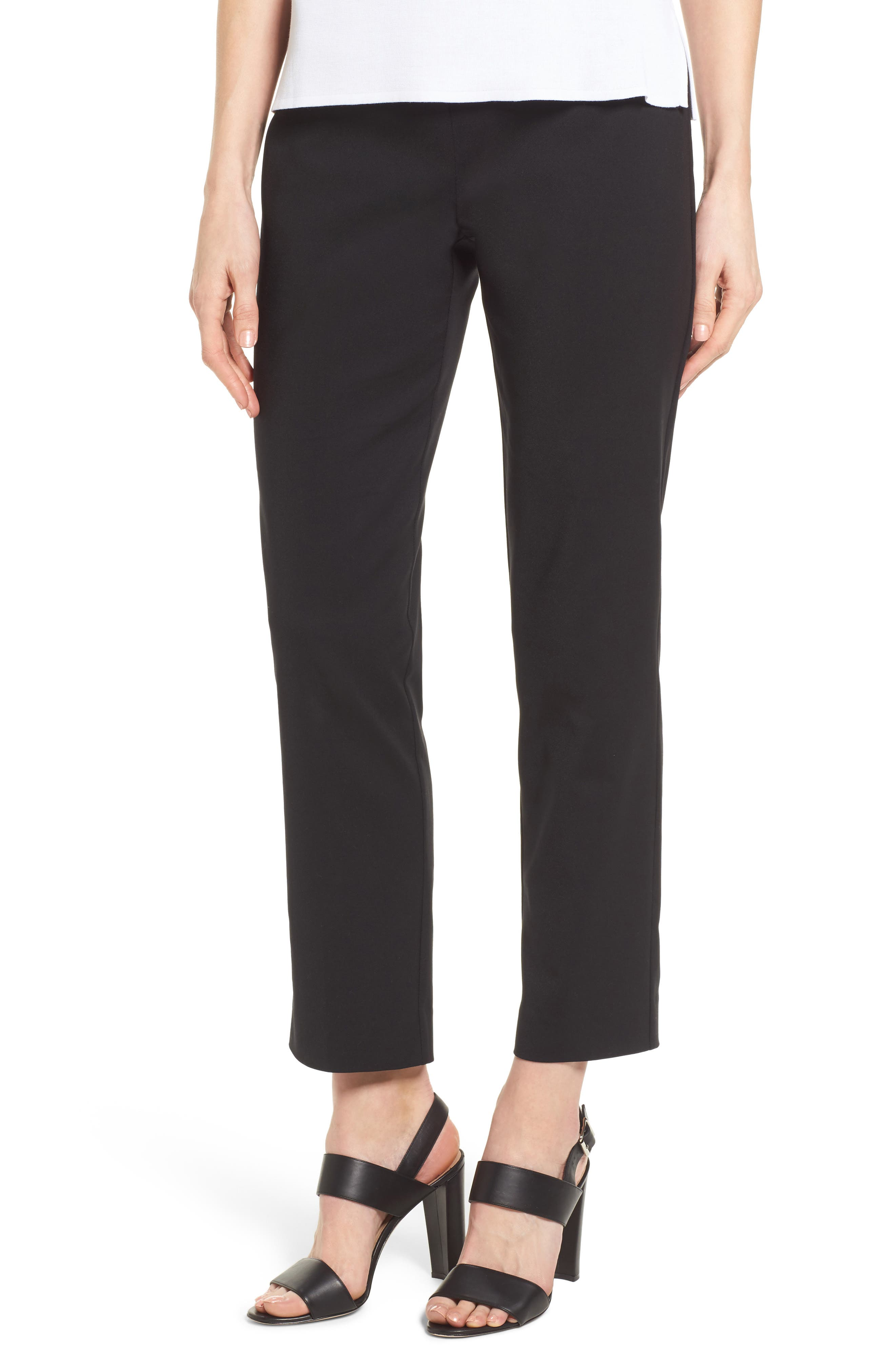 Ming Want Pull-On Ankle Pants,                             Main thumbnail 1, color,                             Black
