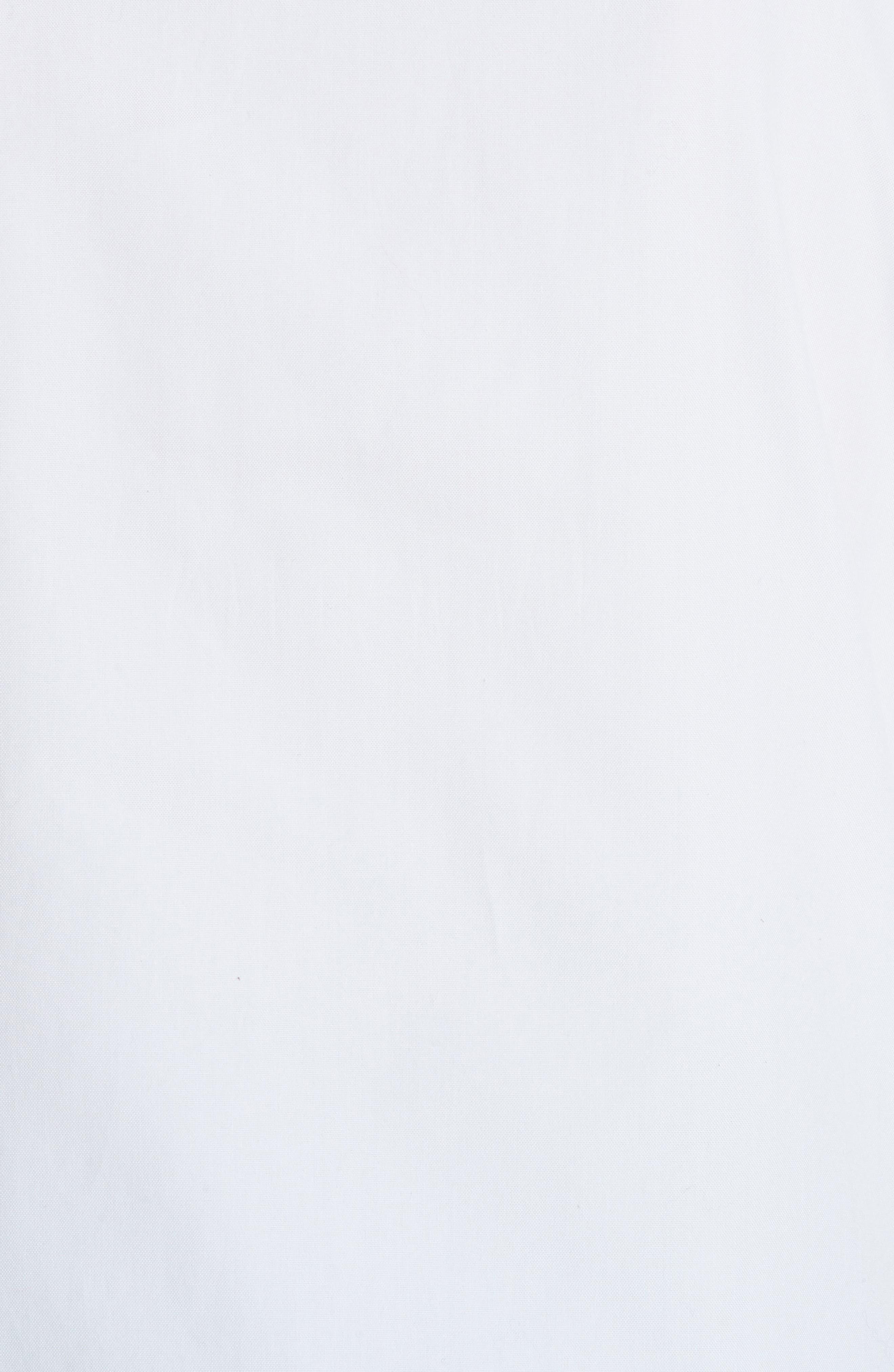 Crop Back Poplin Shirt,                             Alternate thumbnail 6, color,                             White