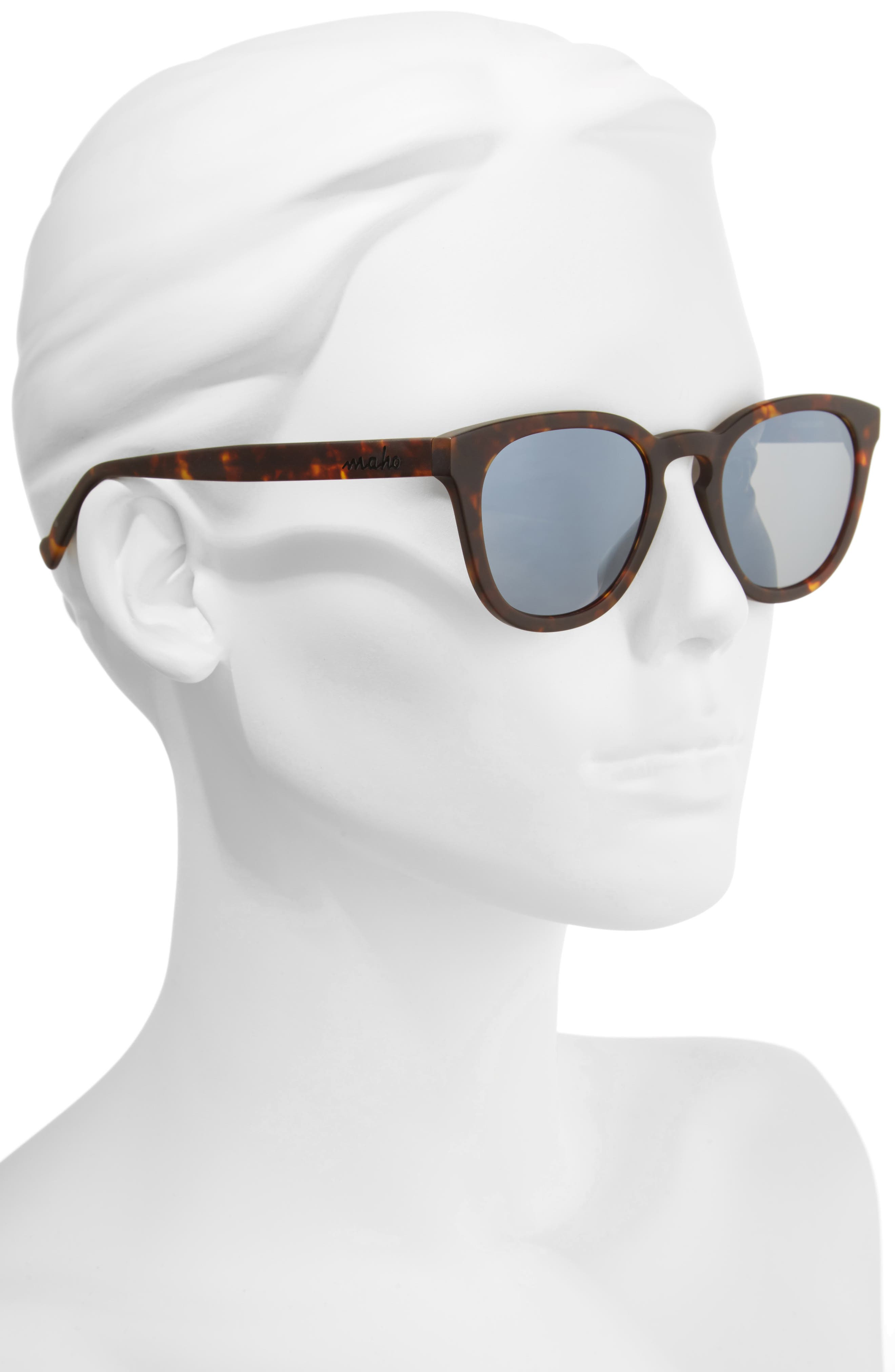 Alternate Image 2  - Maho Capetown 50mm Polarized Round Sunglasses