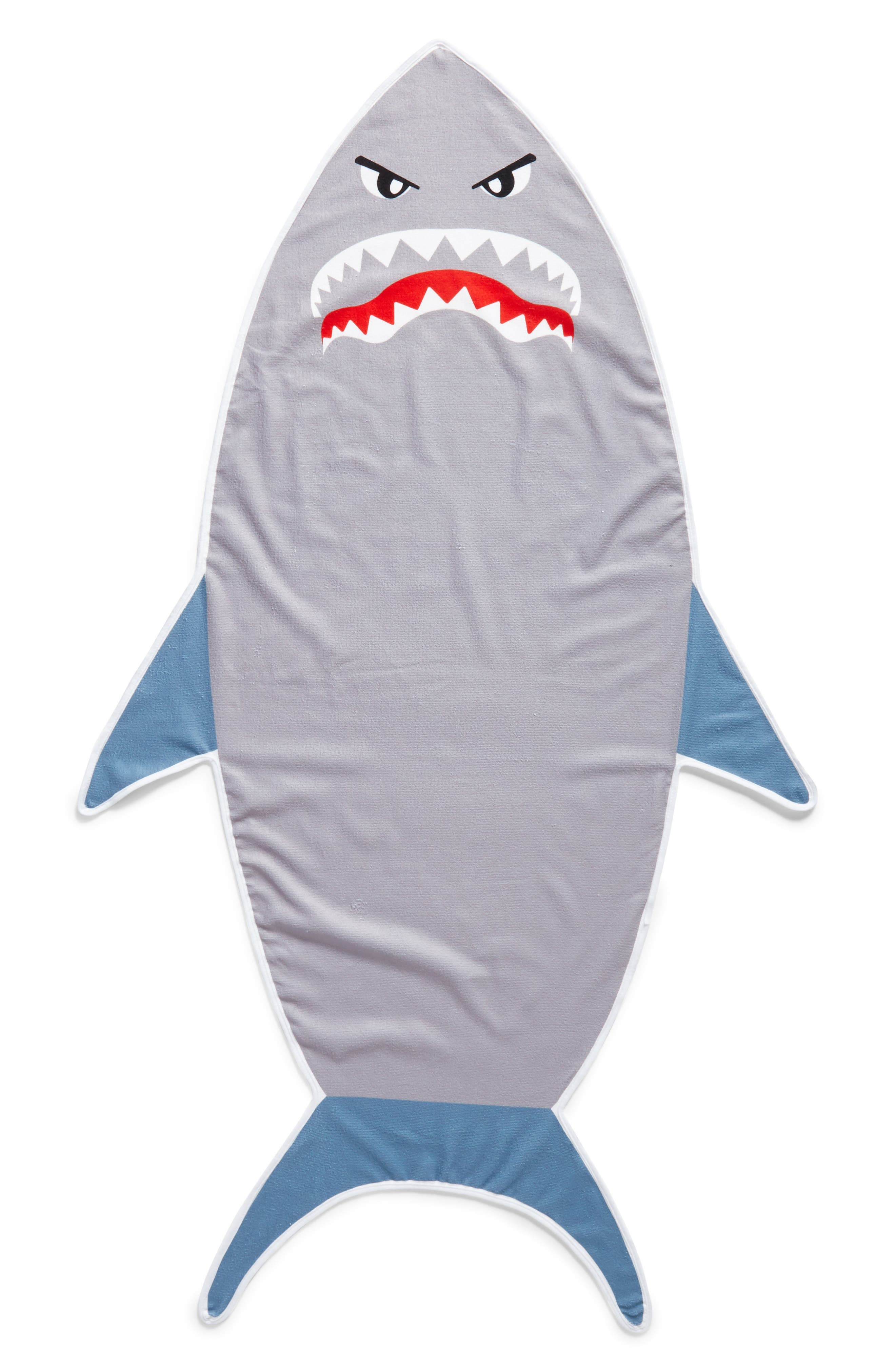 Shark Towel,                             Main thumbnail 1, color,                             Grey Combo