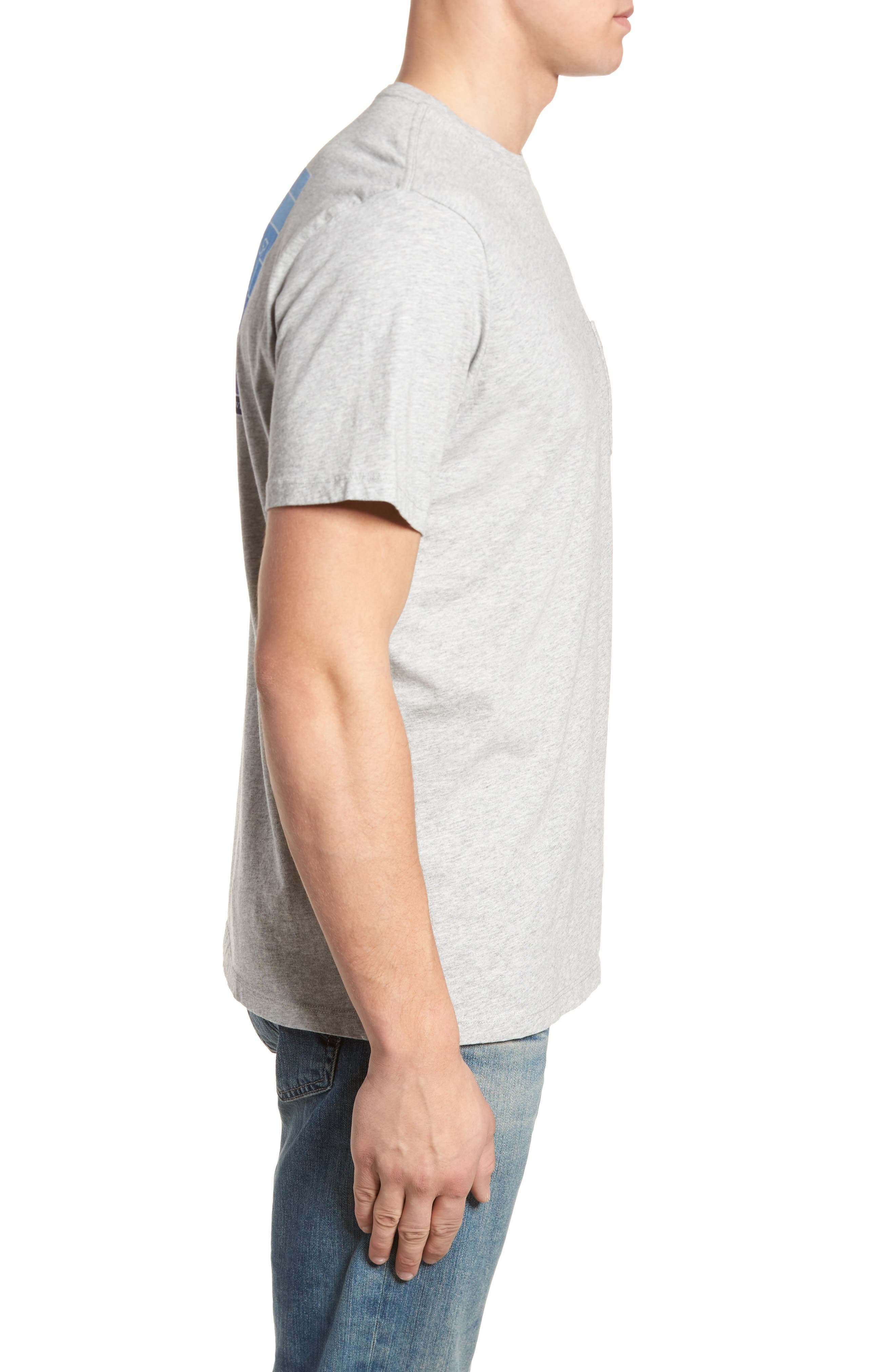 Whaleline Graphic Pocket T-Shirt,                             Alternate thumbnail 3, color,                             Grey Heather