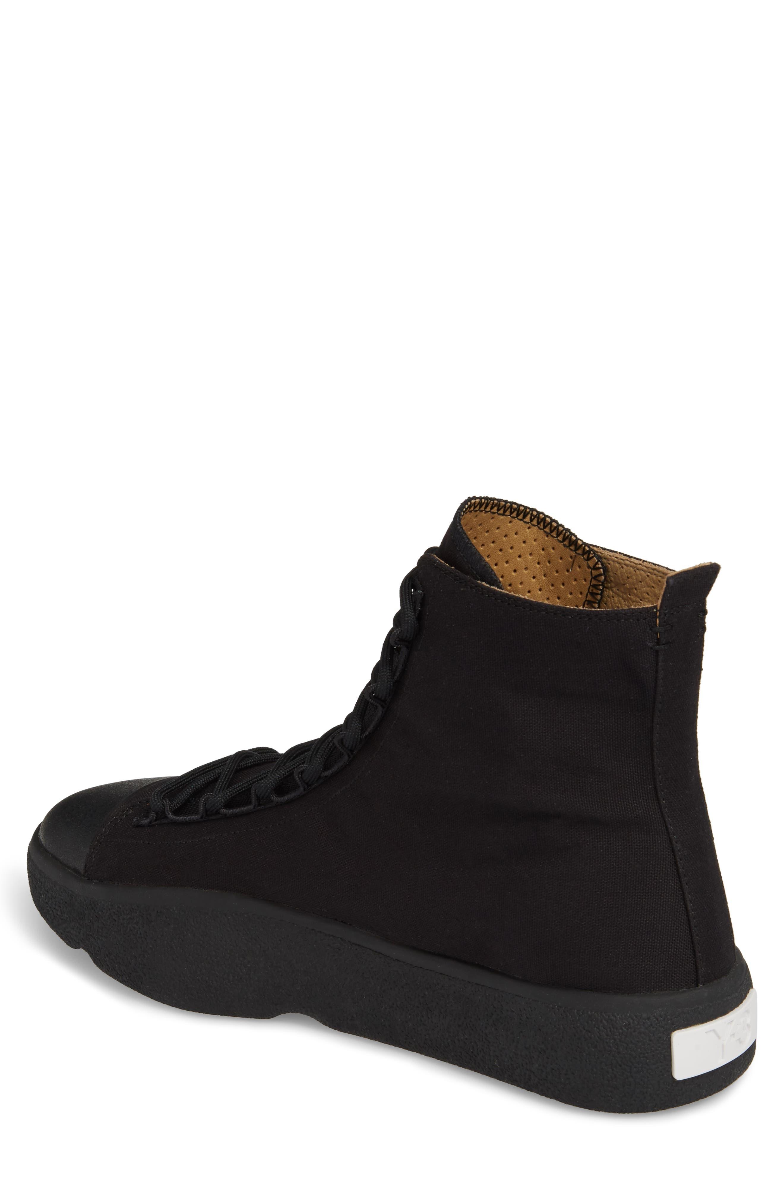 x adidas Bashyo High Top Sneaker,                             Alternate thumbnail 2, color,                             Black