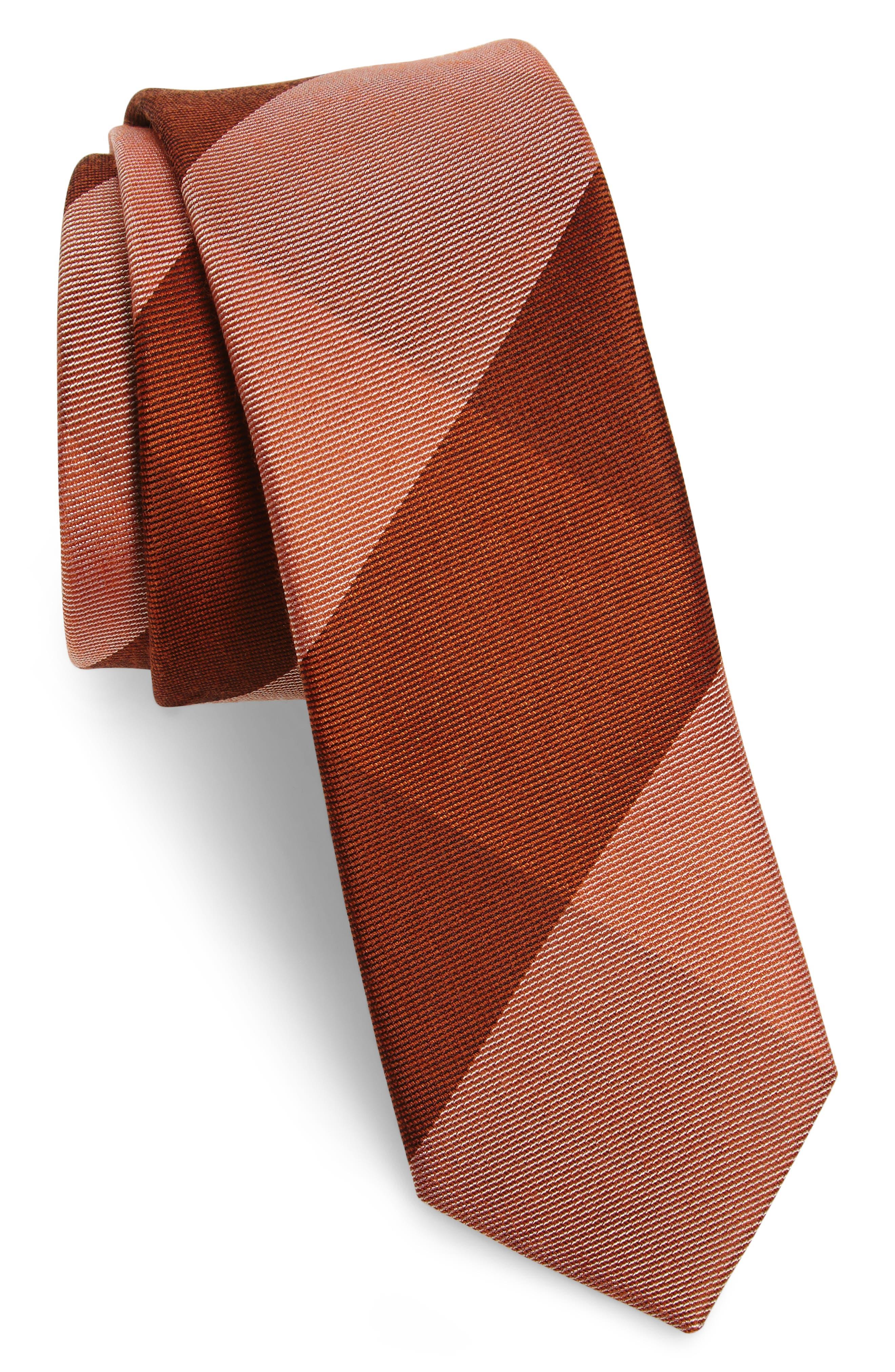 Main Image - The Tie Bar West Bison Plaid Wool & Silk Skinny Tie